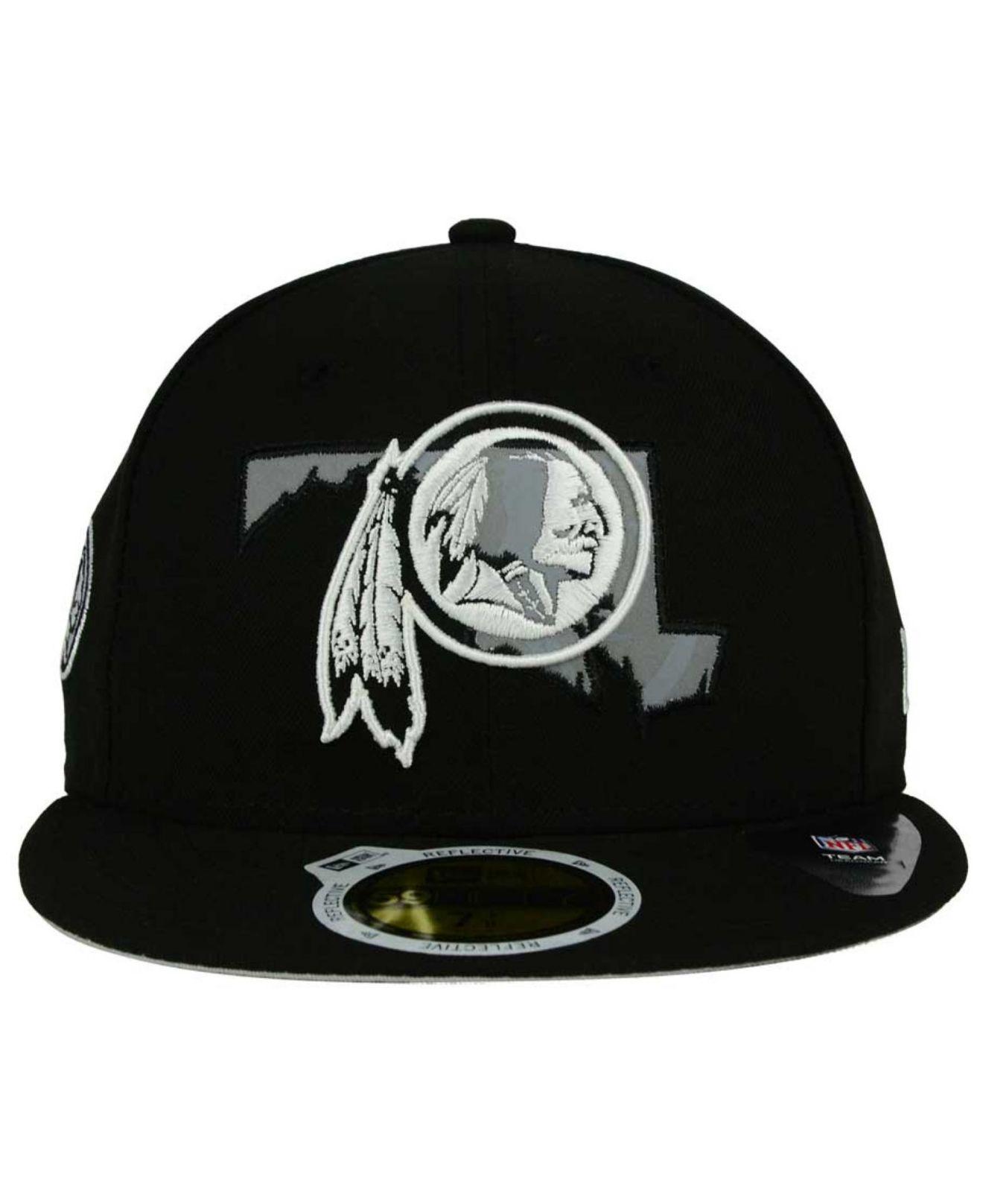 premium selection 7931e 97f40 KTZ Washington Redskins State Flective Redux 59fifty Cap in Black ...