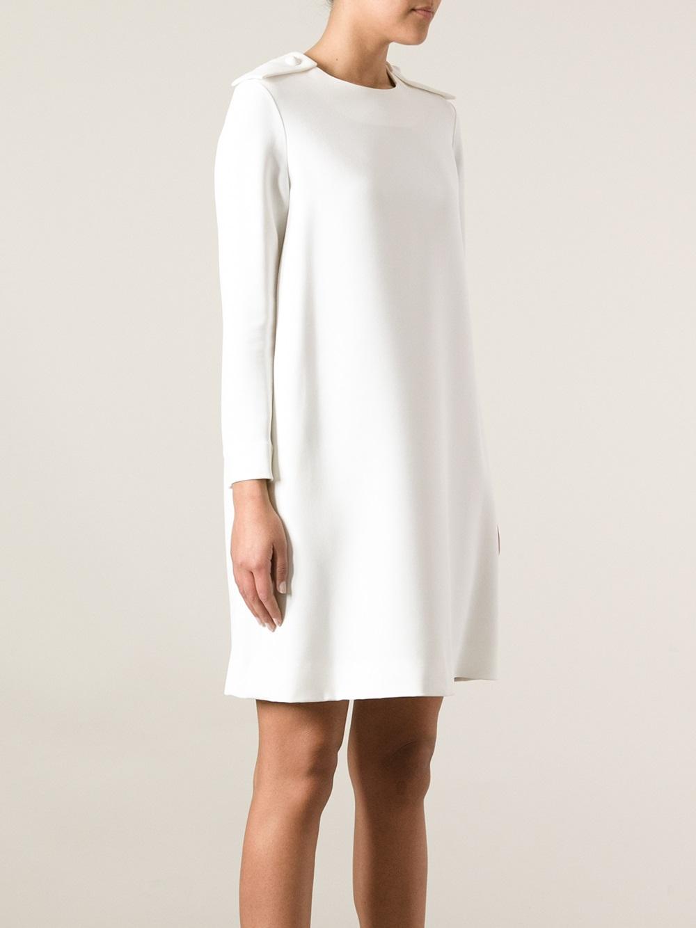 69241071b2 Chloé White Long Sleeve Dress