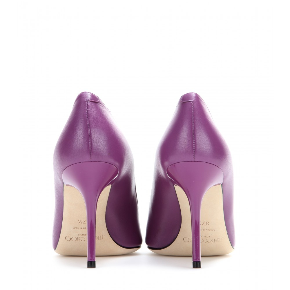 Lyst - Jimmy choo Agnes Leather Pumps in Purple