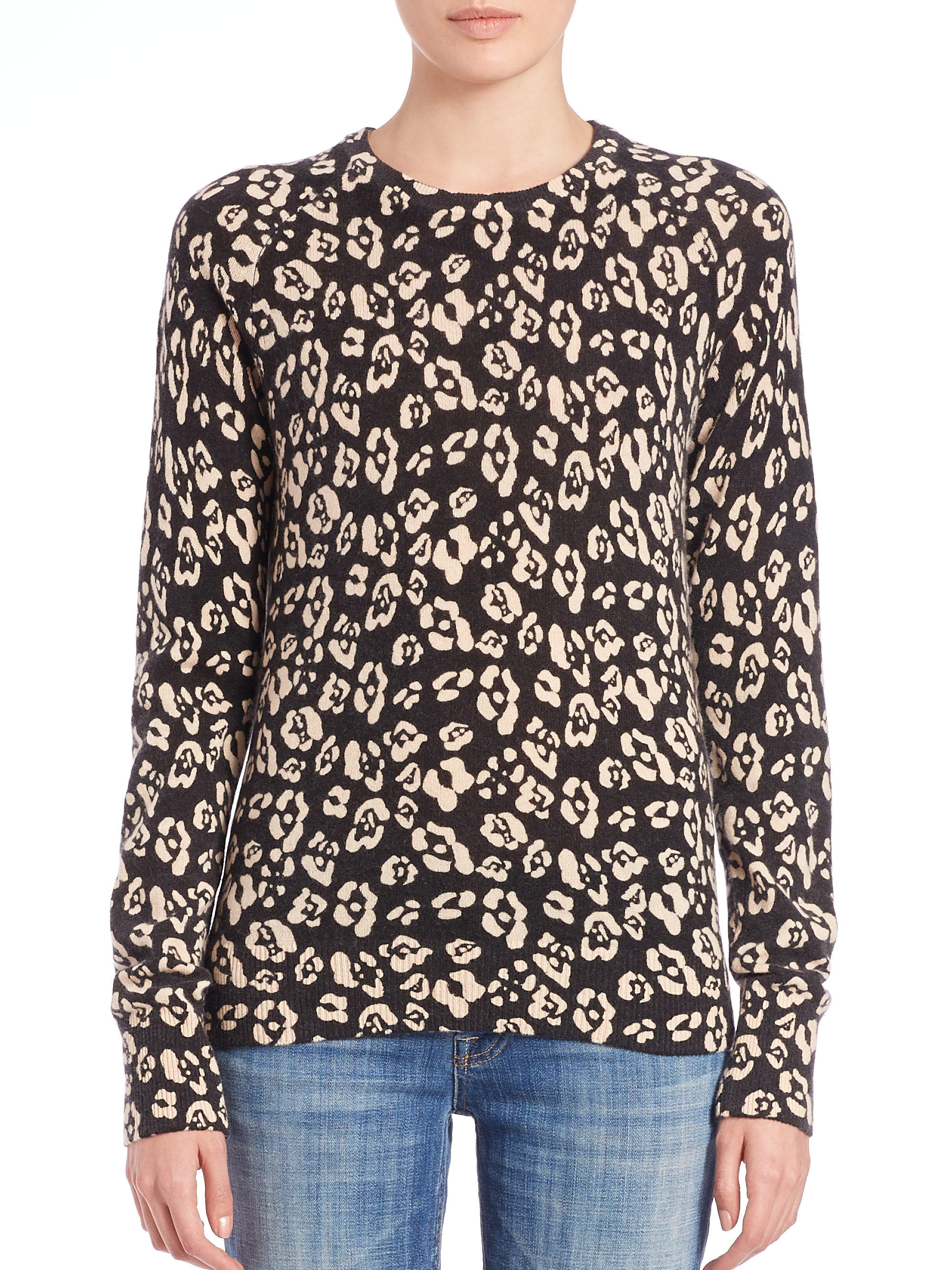 Equipment Sloane Leopard-print Cashmere Sweater | Lyst