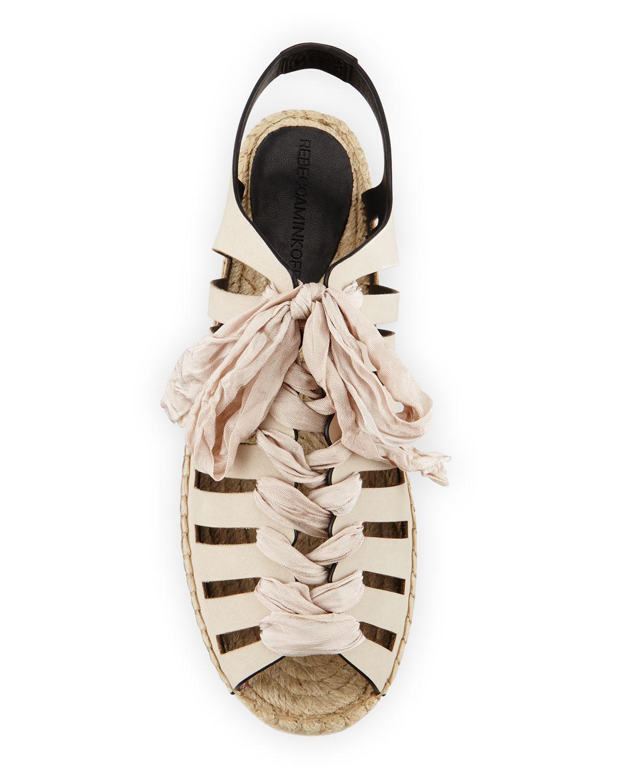 216dc49ca12b Lyst - Rebecca Minkoff Gemma Lace-up Flat Espadrille Sandal in Natural