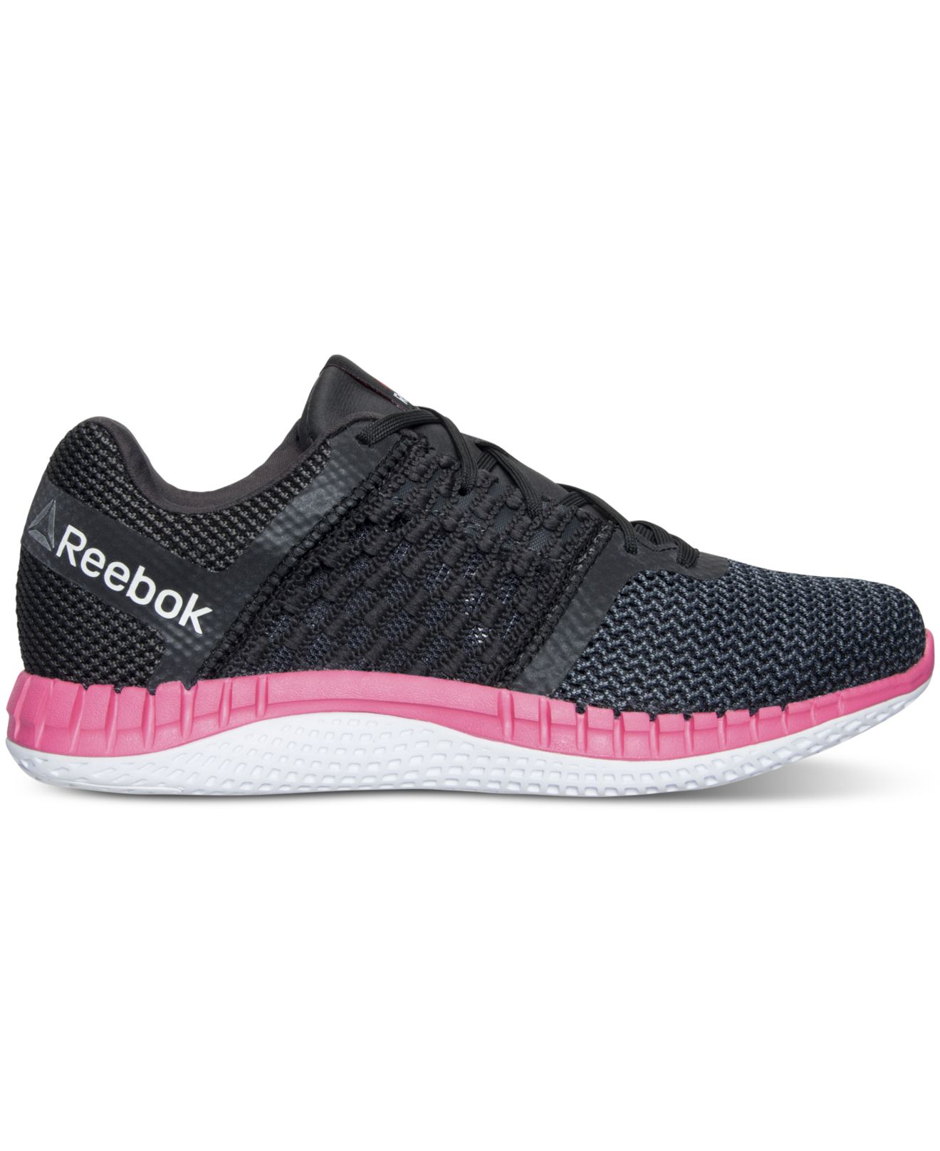 Lyst - Reebok Women s Zprint Running Sneakers From Finish Line in Black 781f0f701