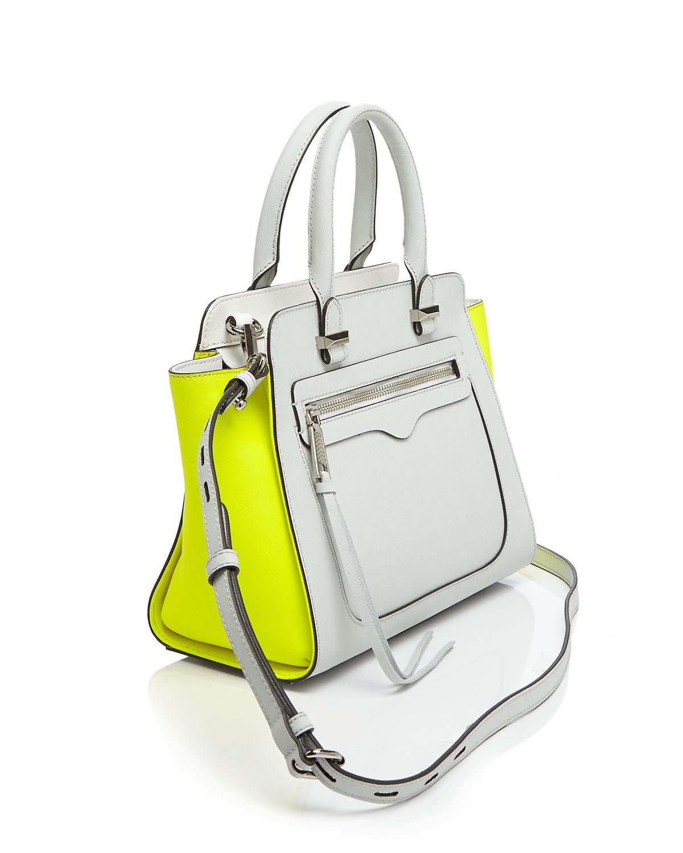 Rebecca Minkoff Mini Avery Color-Blocked Tote in Yellow