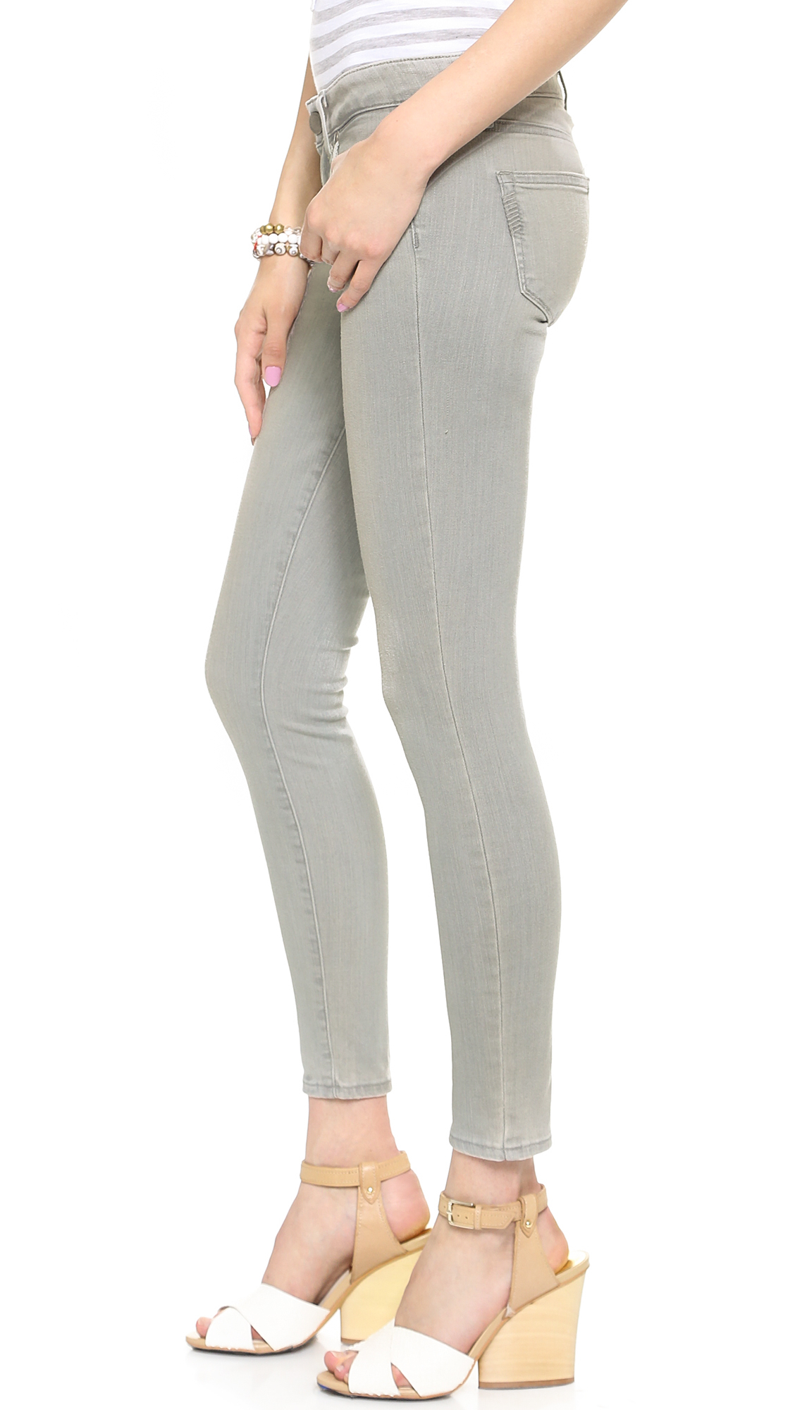 Lyst - Paige Verdugo Ankle Skinny Jeans Montauk Grey In Gray-1663