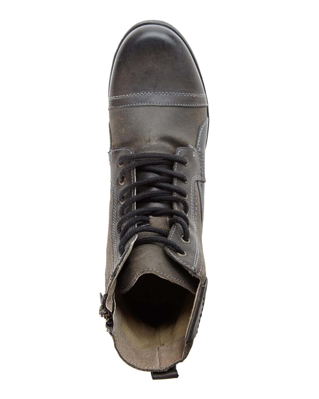 1249b72ff8a Steve Madden Gray Grey Triggah Cap Toe Boots for men