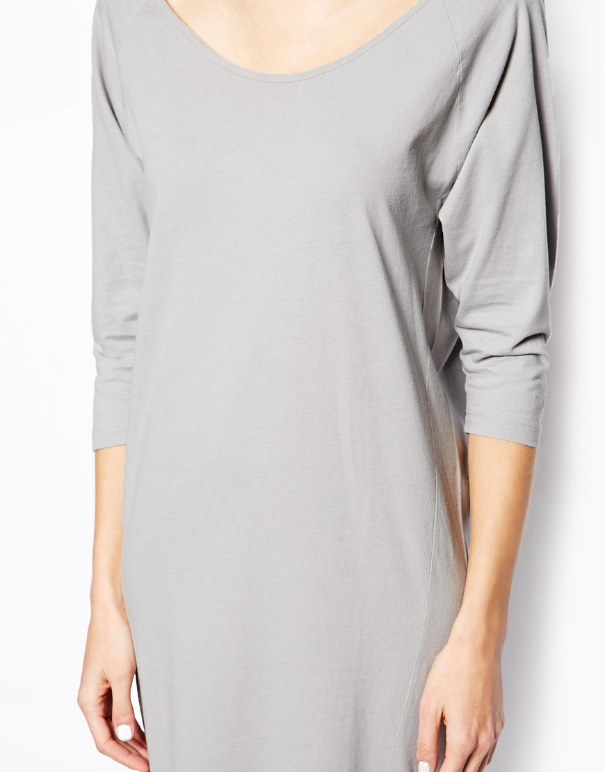 d5430efada25 Lyst - SELECTED Mallie Midi Dress in Jersey in Gray