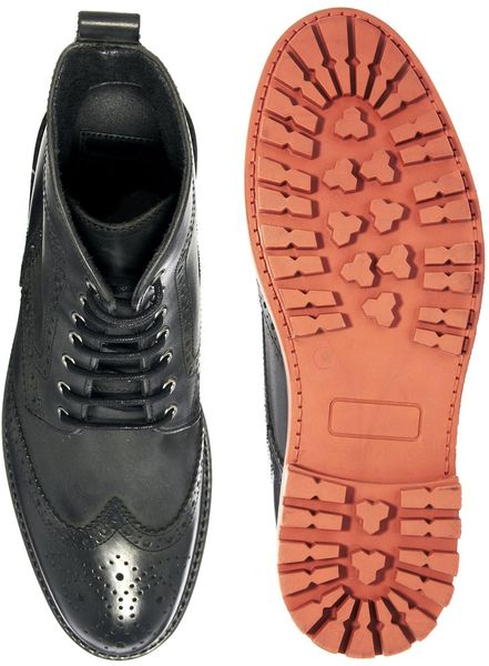 Brogue Boots Asos Asos Brogue Boots in