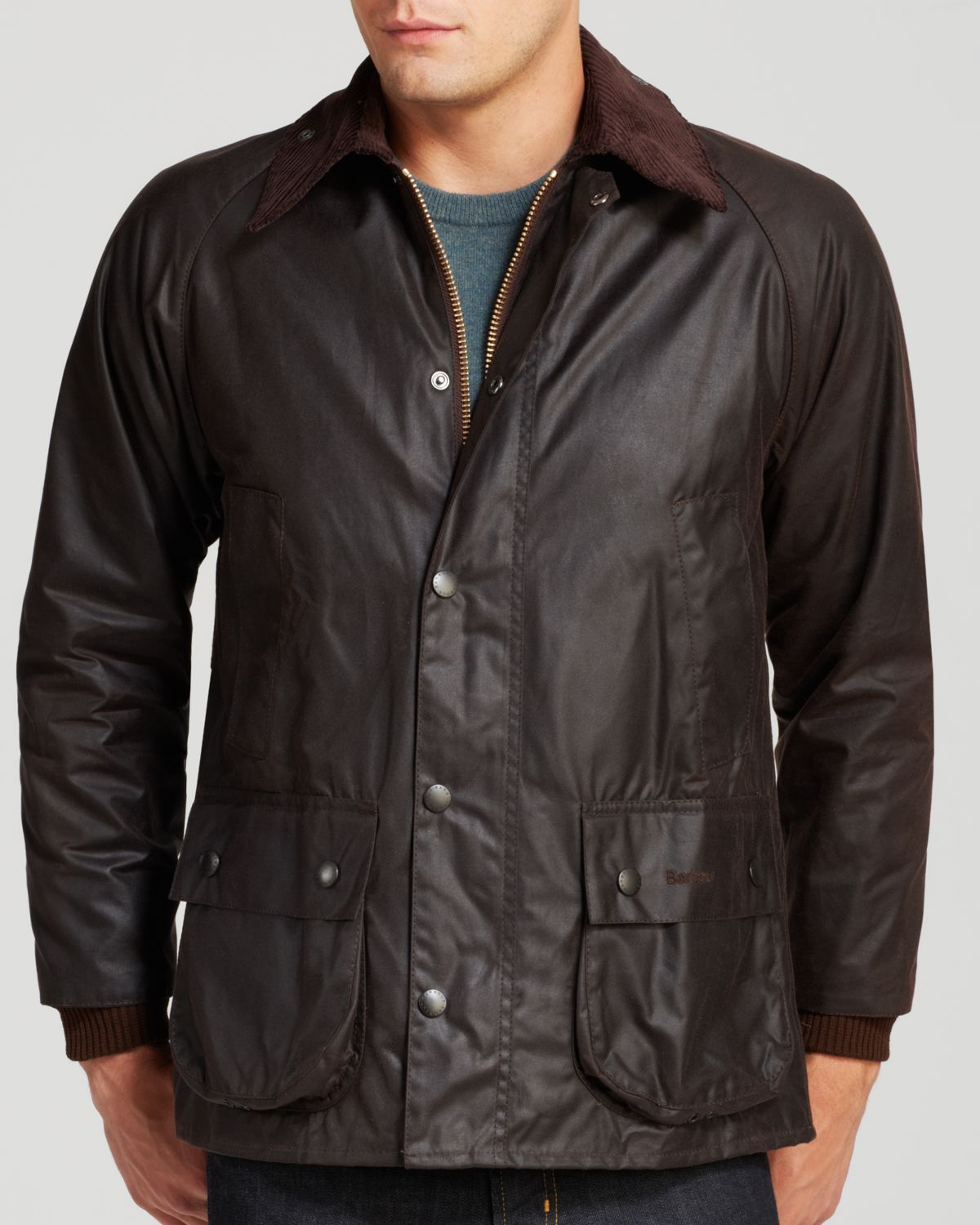 Barbour Classic Bedale Waxed Cotton Coat in Brown for Men ...