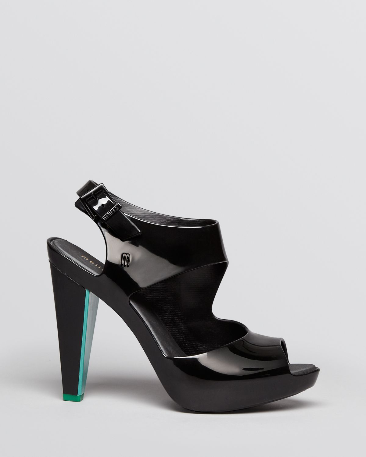 Melissa Open Toe Jelly Platform Sandals Estrelica High