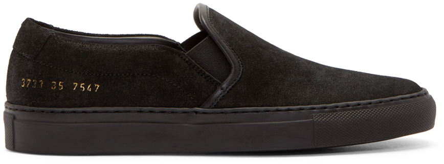 sneakers for cheap where to buy outlet Waxed Suede Slip-On Sneakers