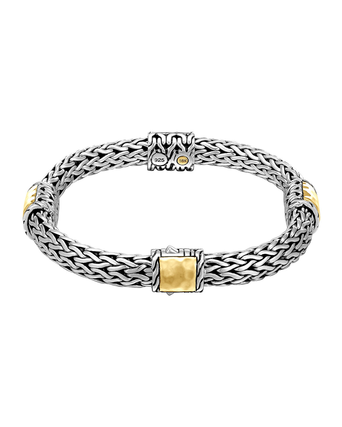 John Hardy Classic Chain Silver Bracelet With Gold