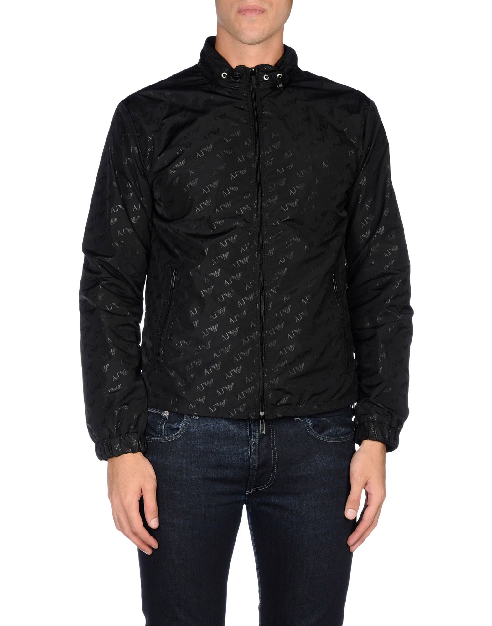 lyst armani jeans jacket in black for men. Black Bedroom Furniture Sets. Home Design Ideas
