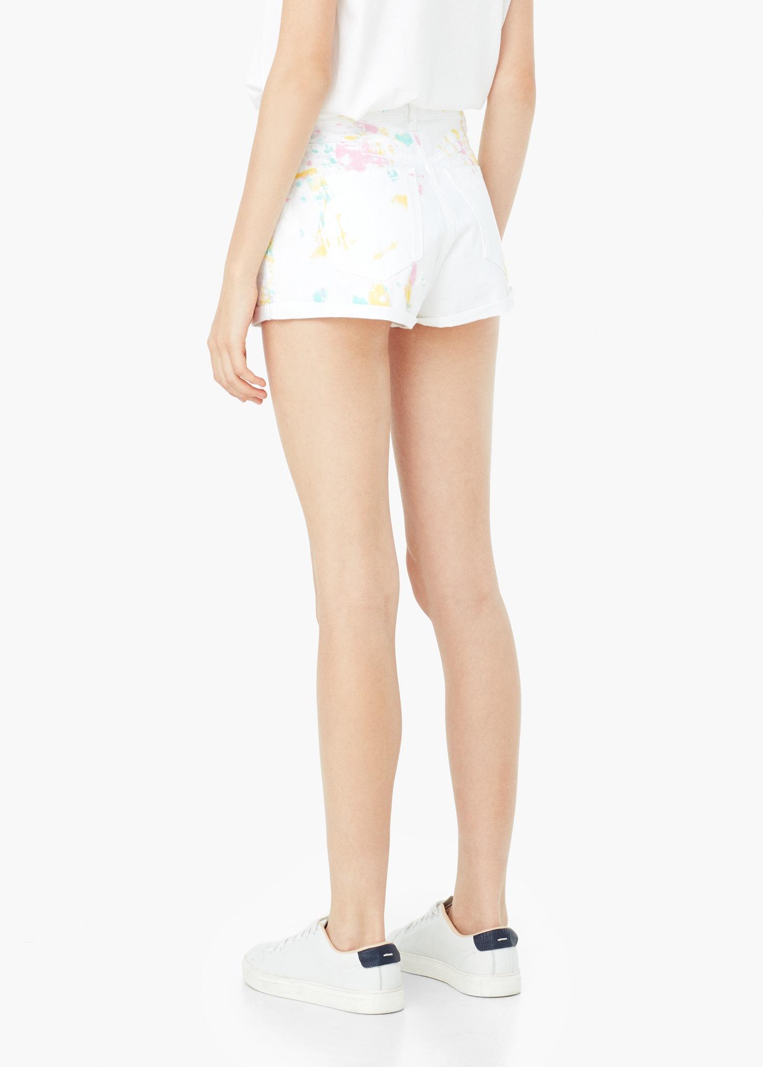 Denim Shorts - White Mango X9fn05