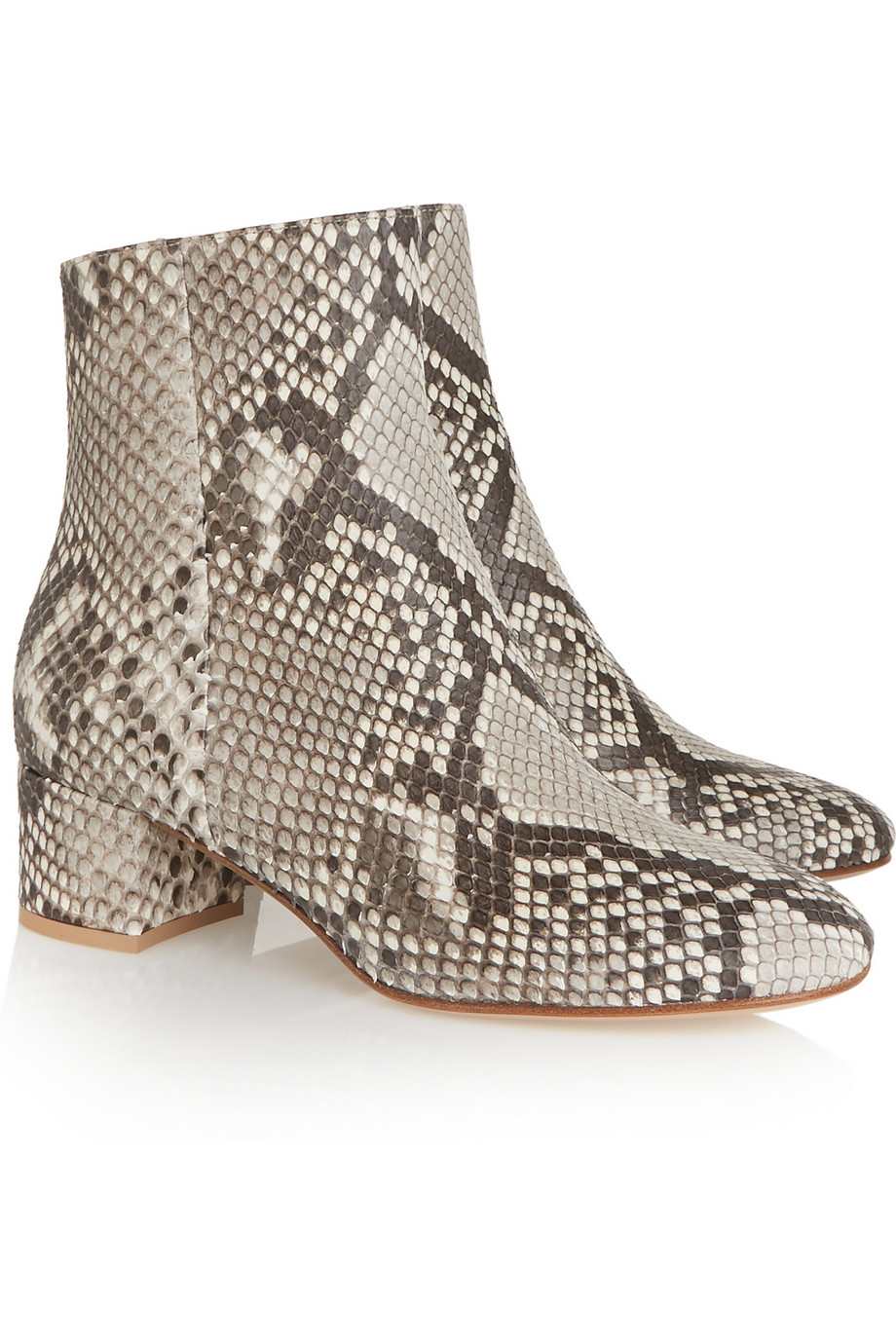 Gianvito Rossi Python Ankle Boots Lyst