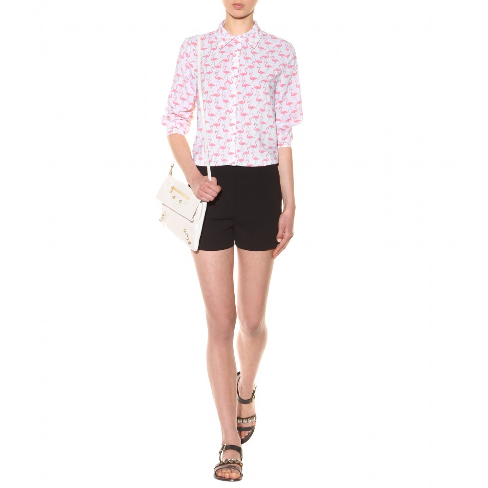 9822a19a2fd4f Lyst - Alice + Olivia Willa Flamingo-Printed Shirt in Pink
