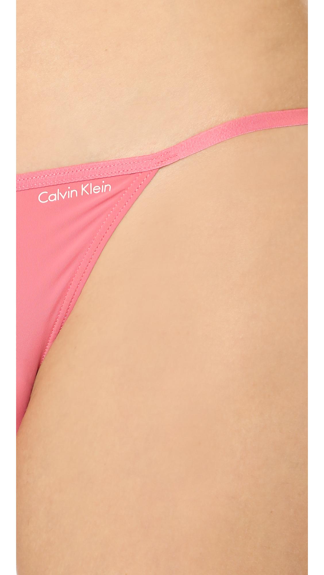 90a1690d7d6 Calvin Klein Sleek String Bikini Panties - Purity in Pink - Lyst