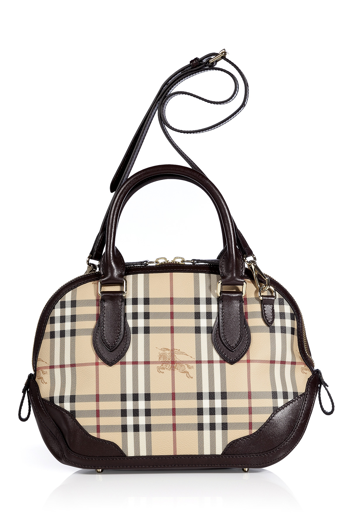9c28d74c1ffe Burberry Chocolate Haymarket Small Orchard Bowling Bag in Brown - Lyst