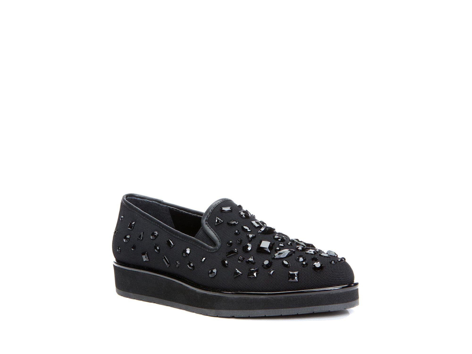 Donald J Pliner Betina Jeweled Slip On Sneakers in Black