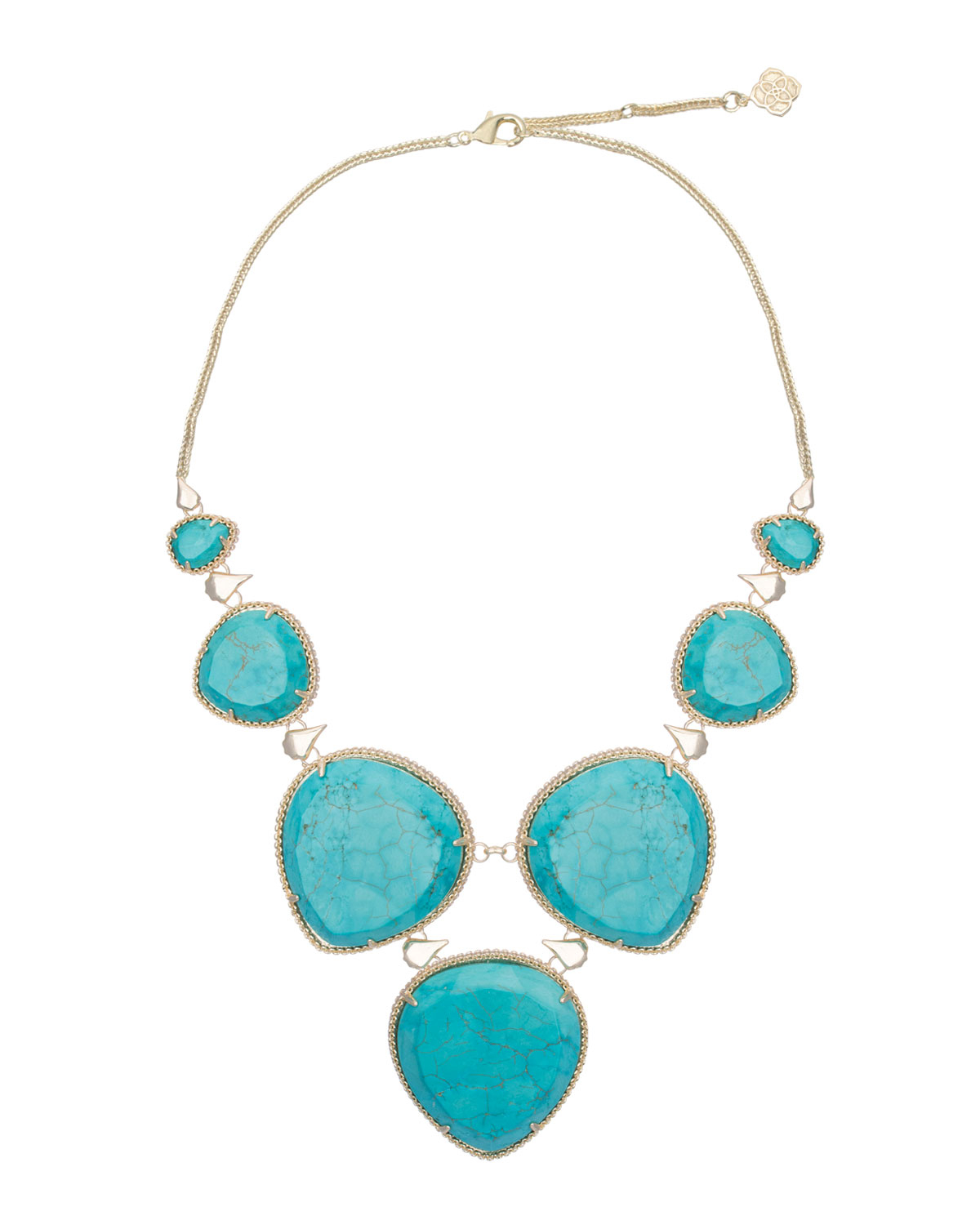 Kendra Scott Rebecca Necklace Turquoise In Blue Turquoise