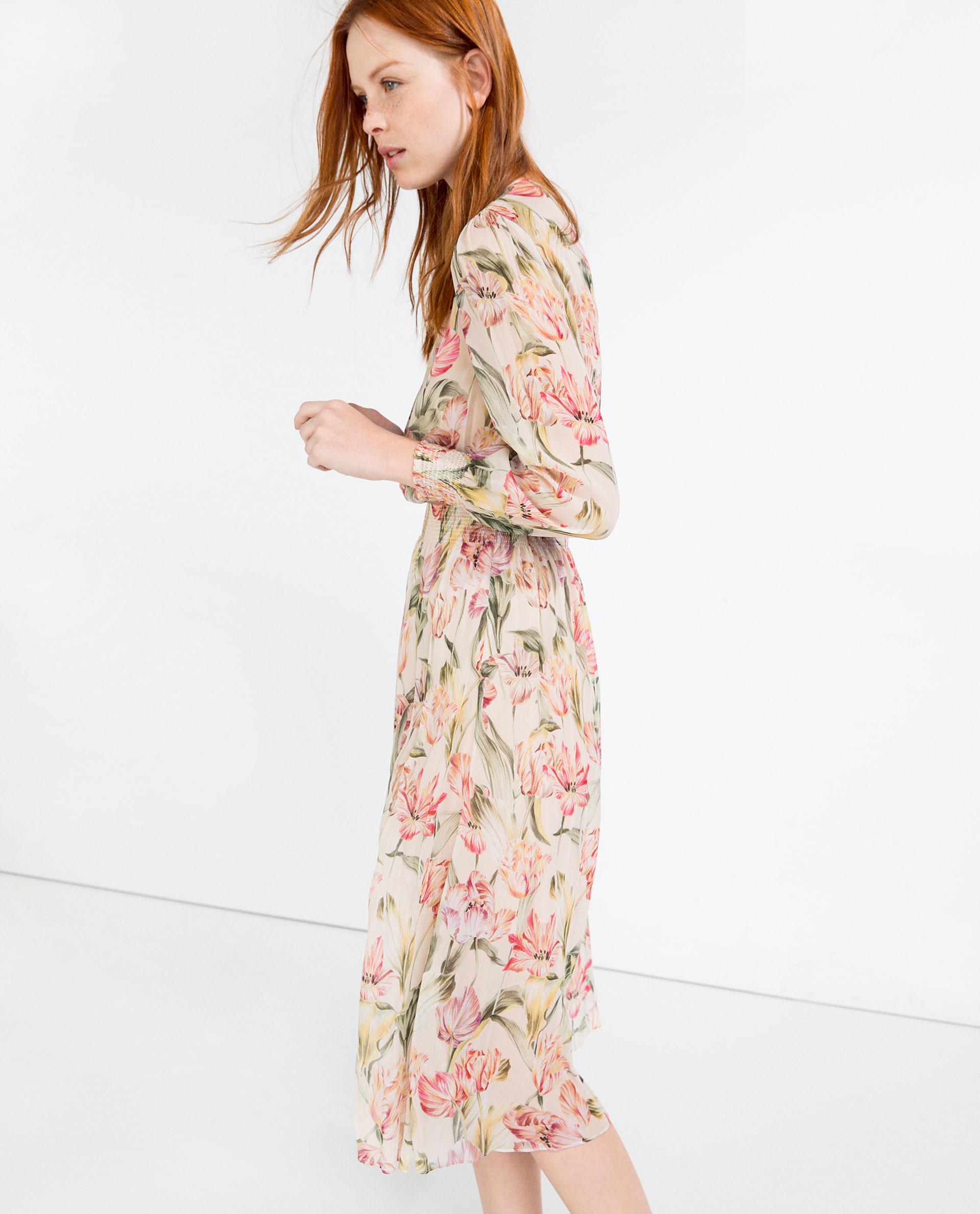 a14864df Zara Floral Midi Dress 2018 - raveitsafe