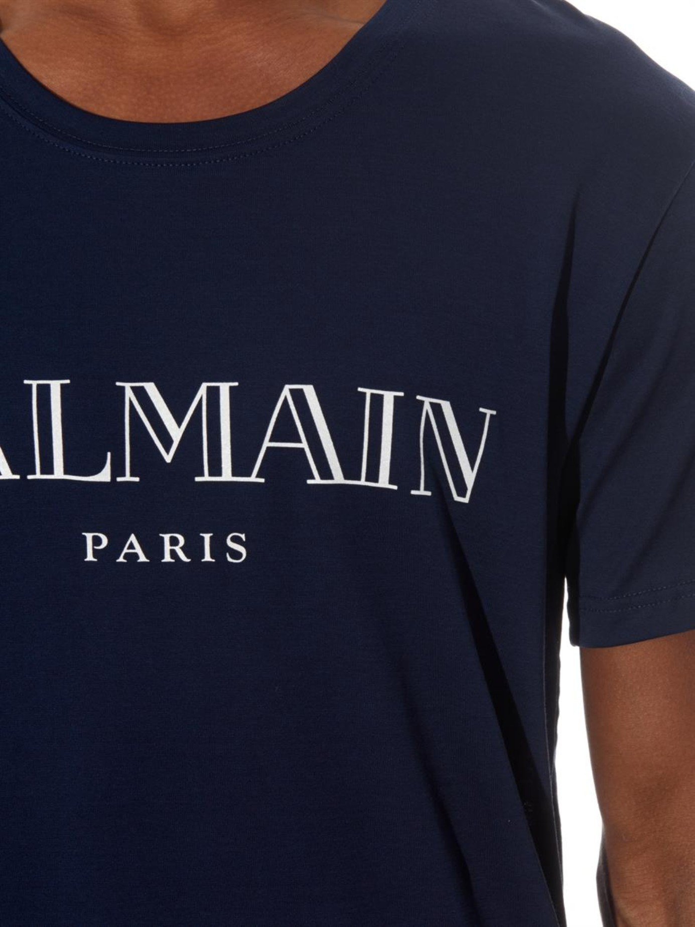 c3fd17c3c565 Lyst - Balmain Logo-Print Cotton-Jersey T-Shirt in Blue for Men