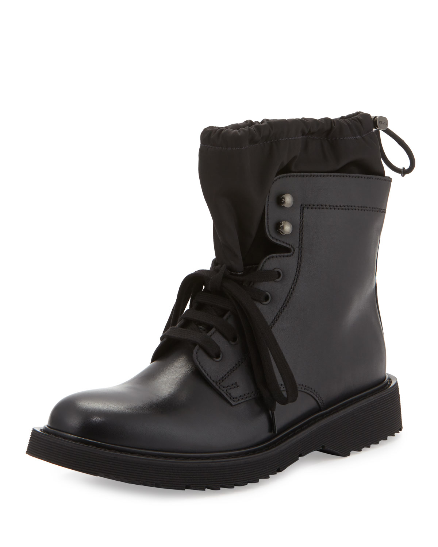 c6f73142e234f Prada Black Leather Ankle Boots | Mount Mercy University