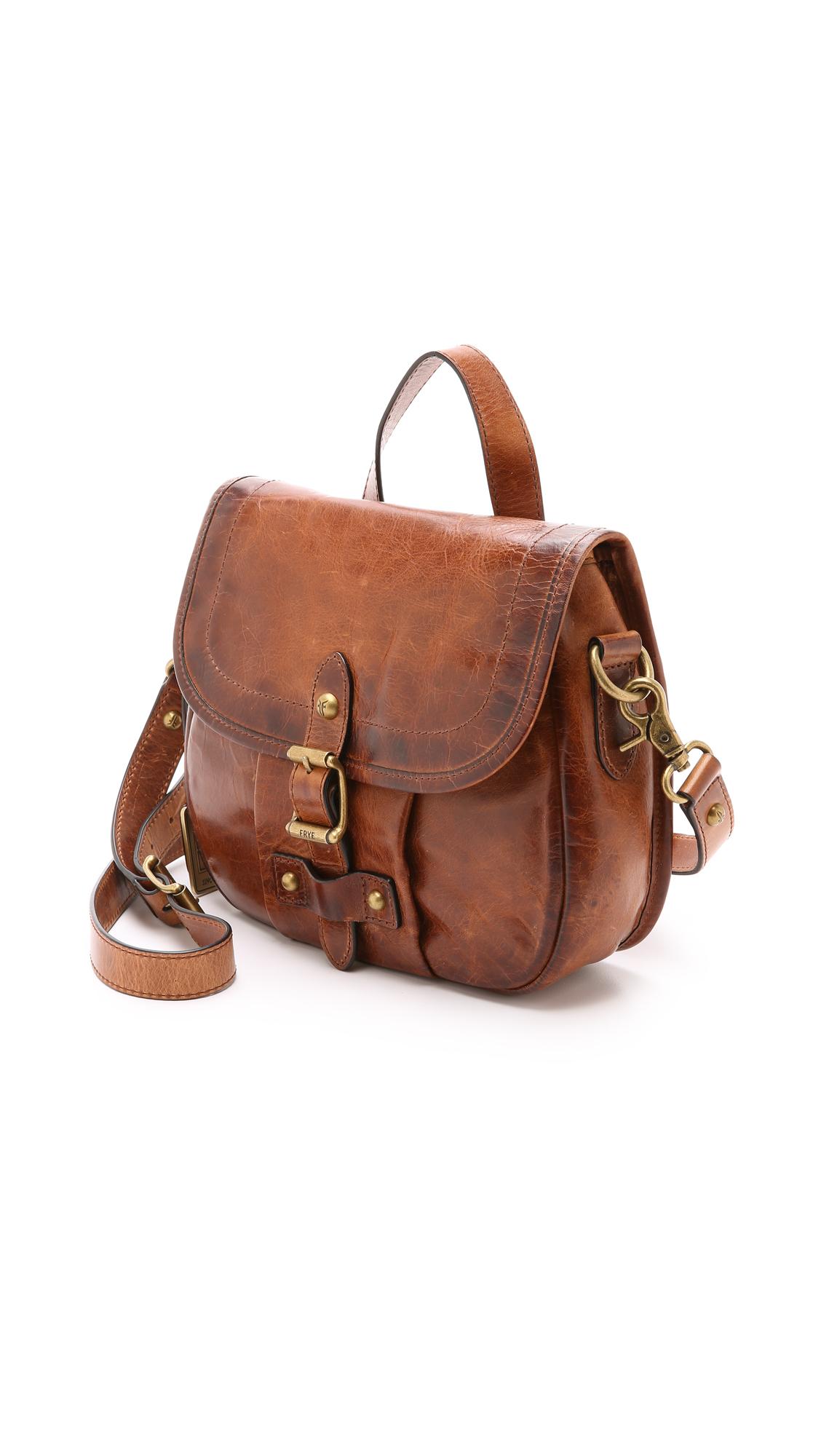 frye parker cross body bag cognac in brown lyst
