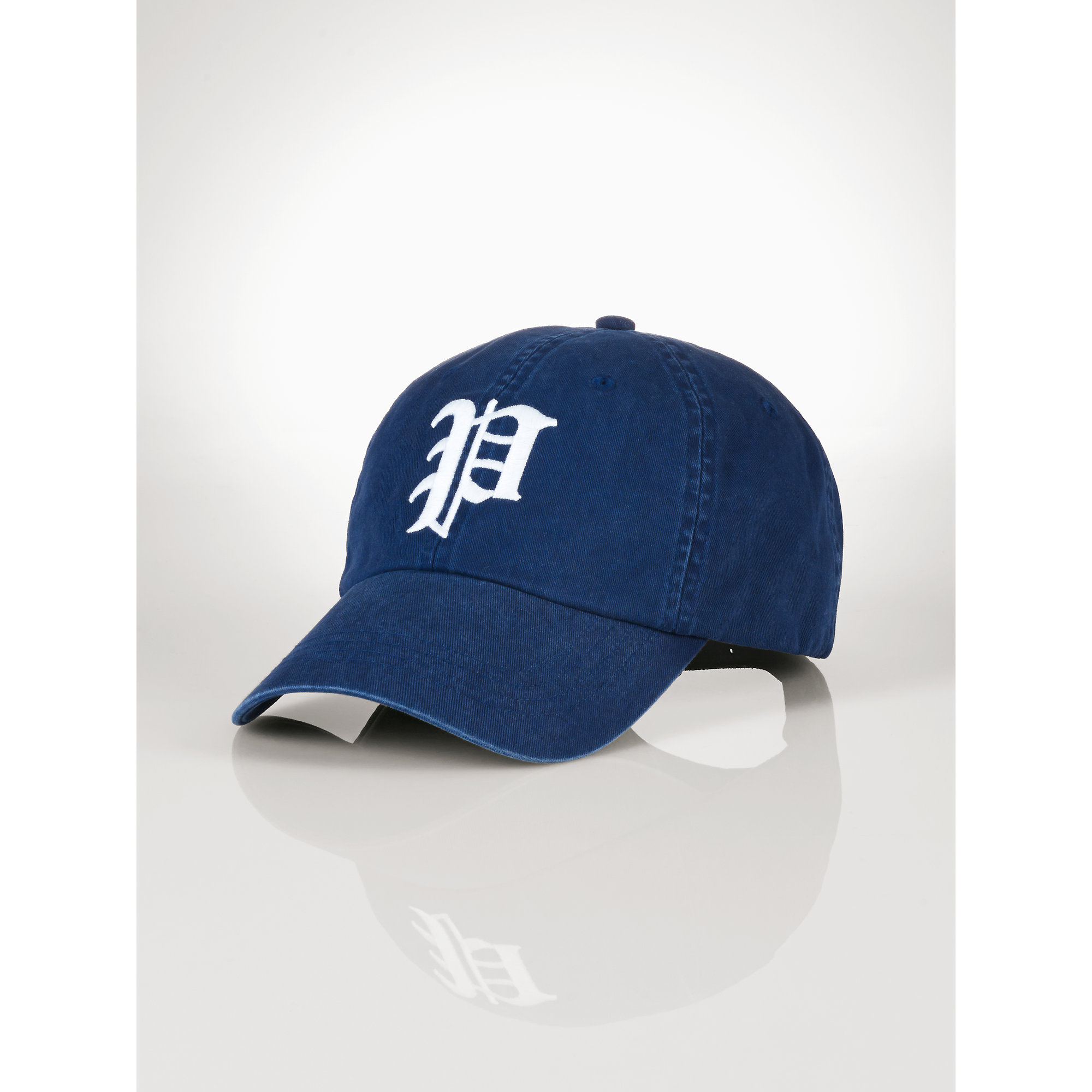 polo ralph quot p quot baseball cap in blue for