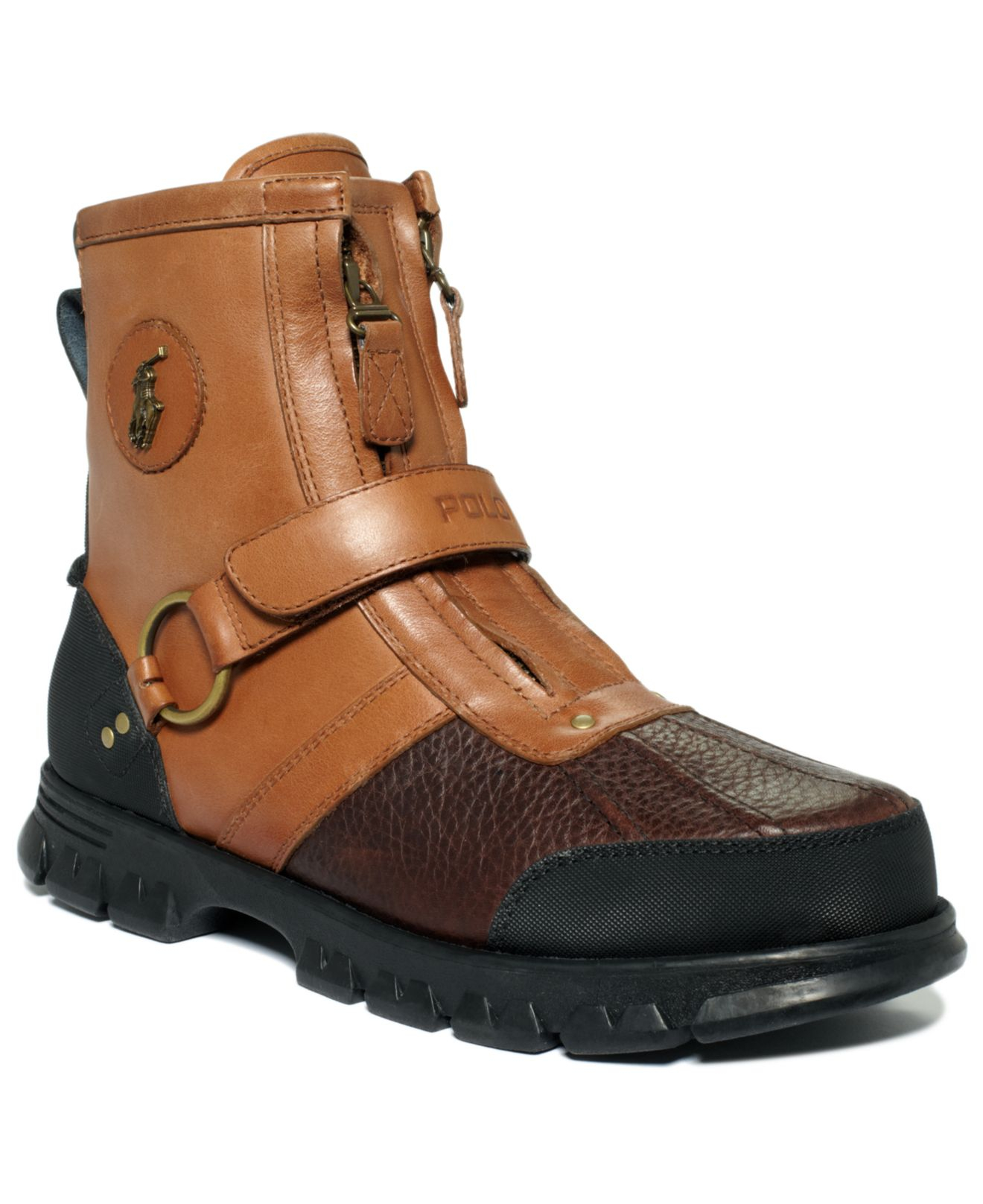 polo ralph lauren conquest iii high duck boots in brown for men briarwood brown lyst. Black Bedroom Furniture Sets. Home Design Ideas