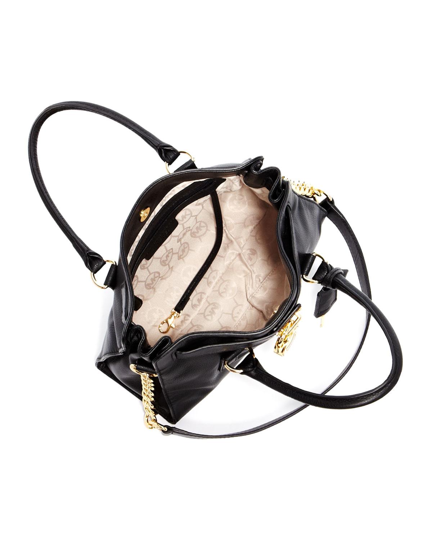 231f39a645e4 ... reduced lyst michael michael kors hamilton satchel in black 5da33 60c0d
