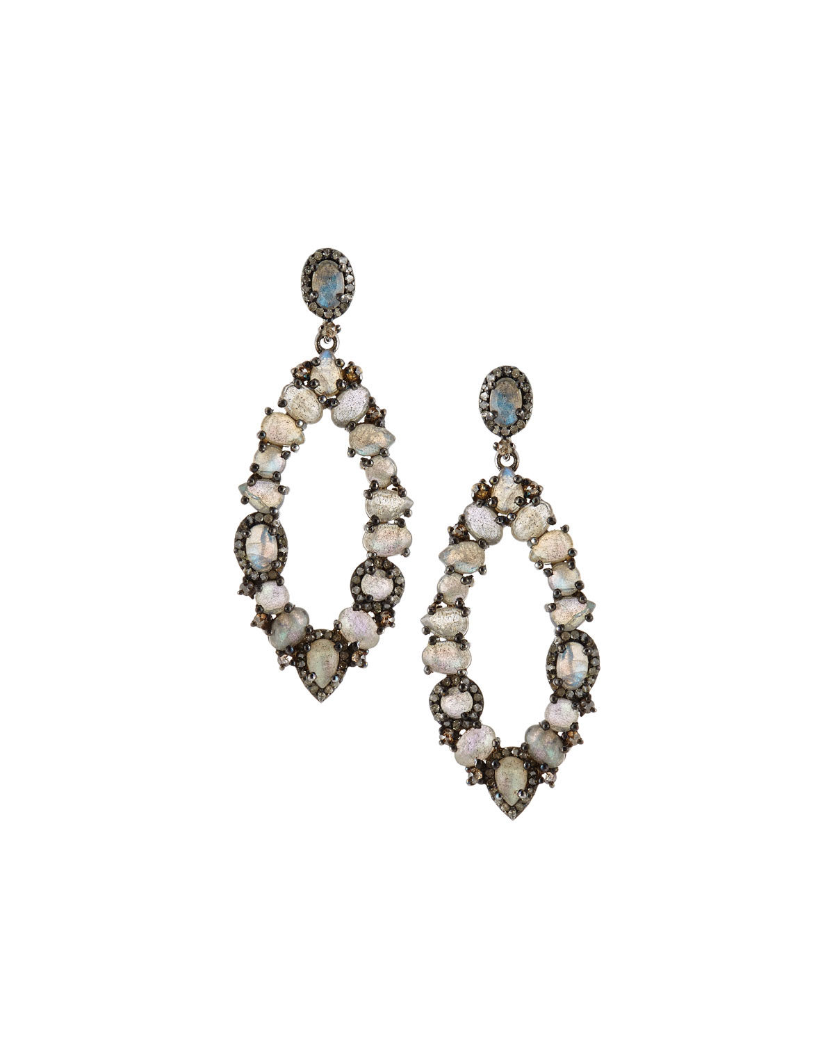 bavna jewelry bavna labradorite marquise drop earrings in 3730