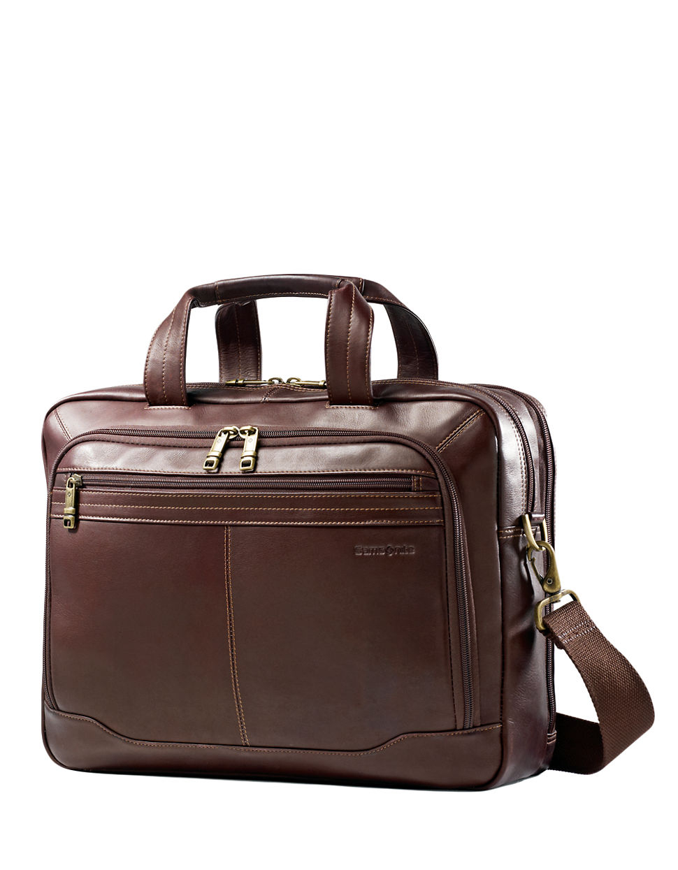 Samsonite Brown Leather Briefcase0185-477321139 in Brown ...