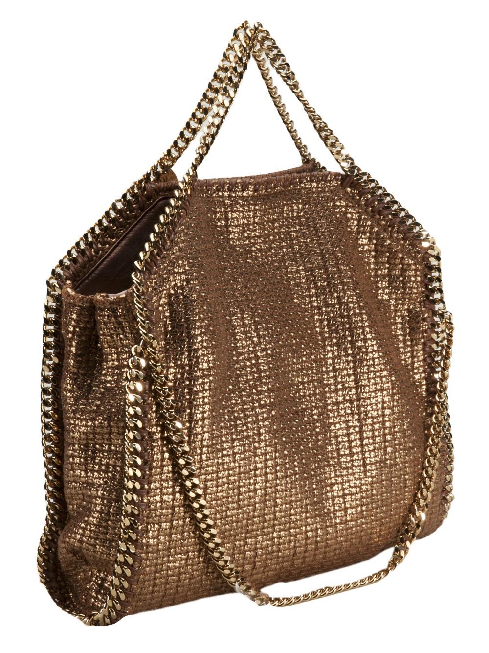74bce021b8 Stella Mccartney Small Falabella Backpack. Lyst - Stella Mccartney Small  Falabella Foldover Bag in Metallic