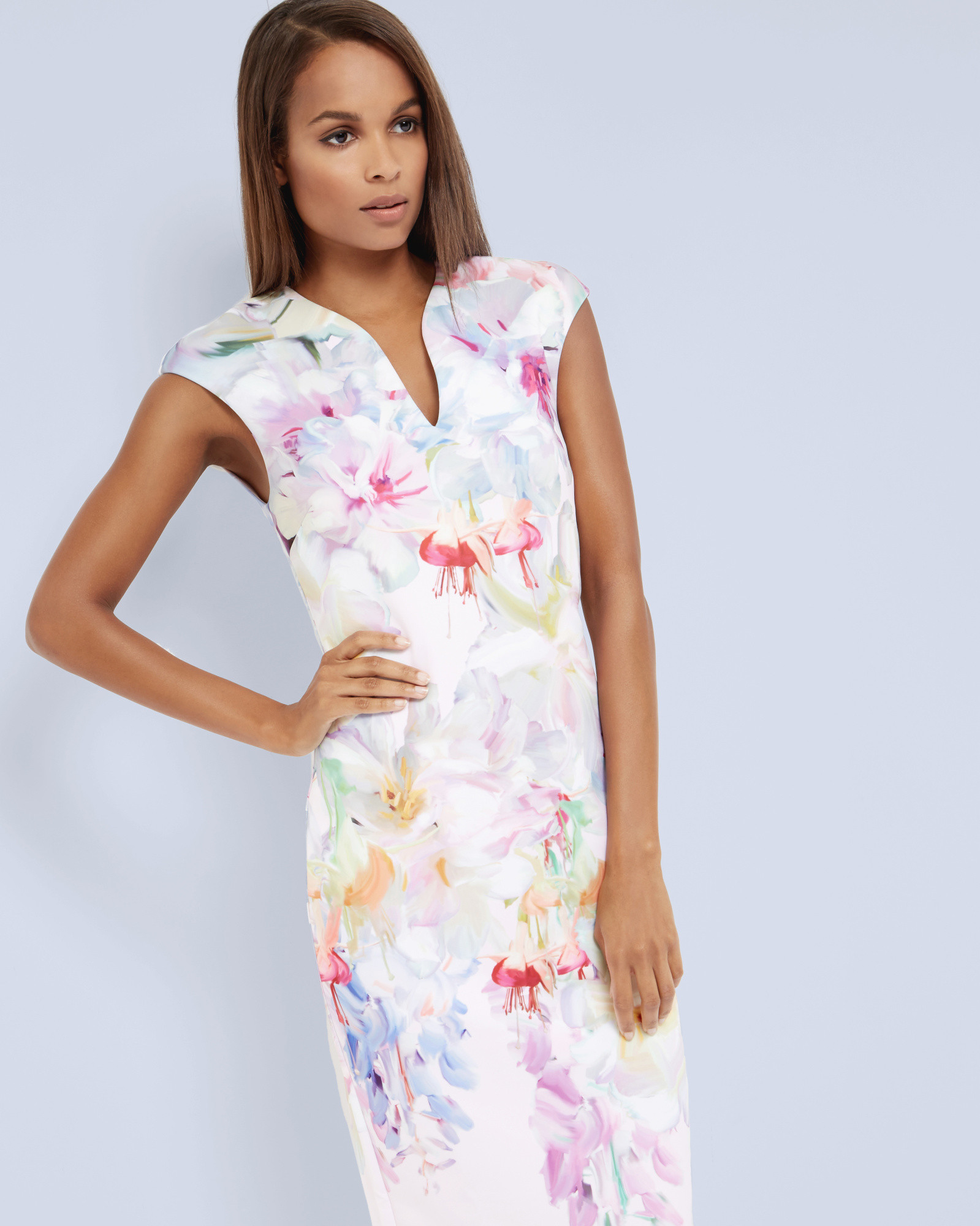 Ted baker pink bodycon dress new