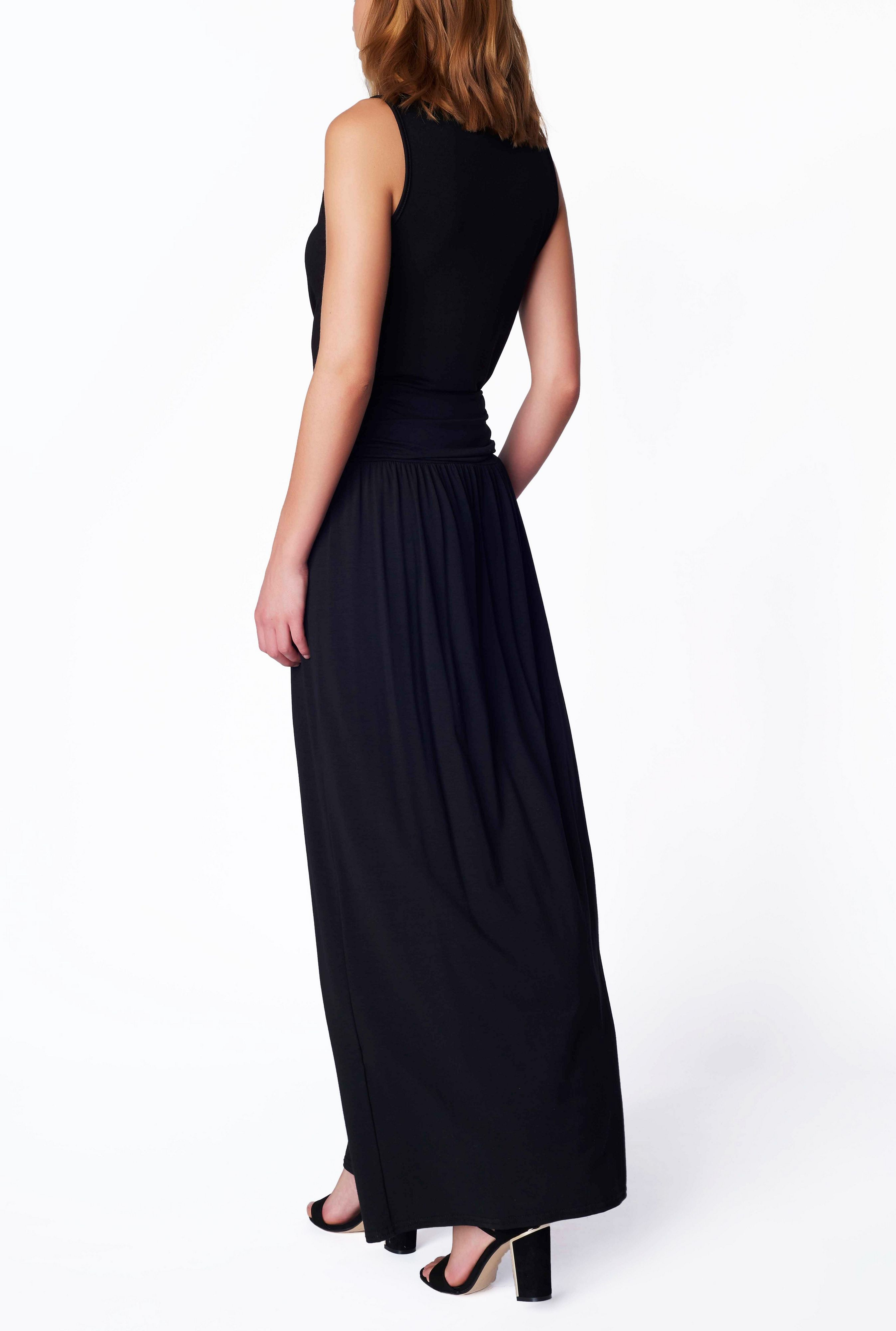 lakeland jersey maxi skirt in black lyst