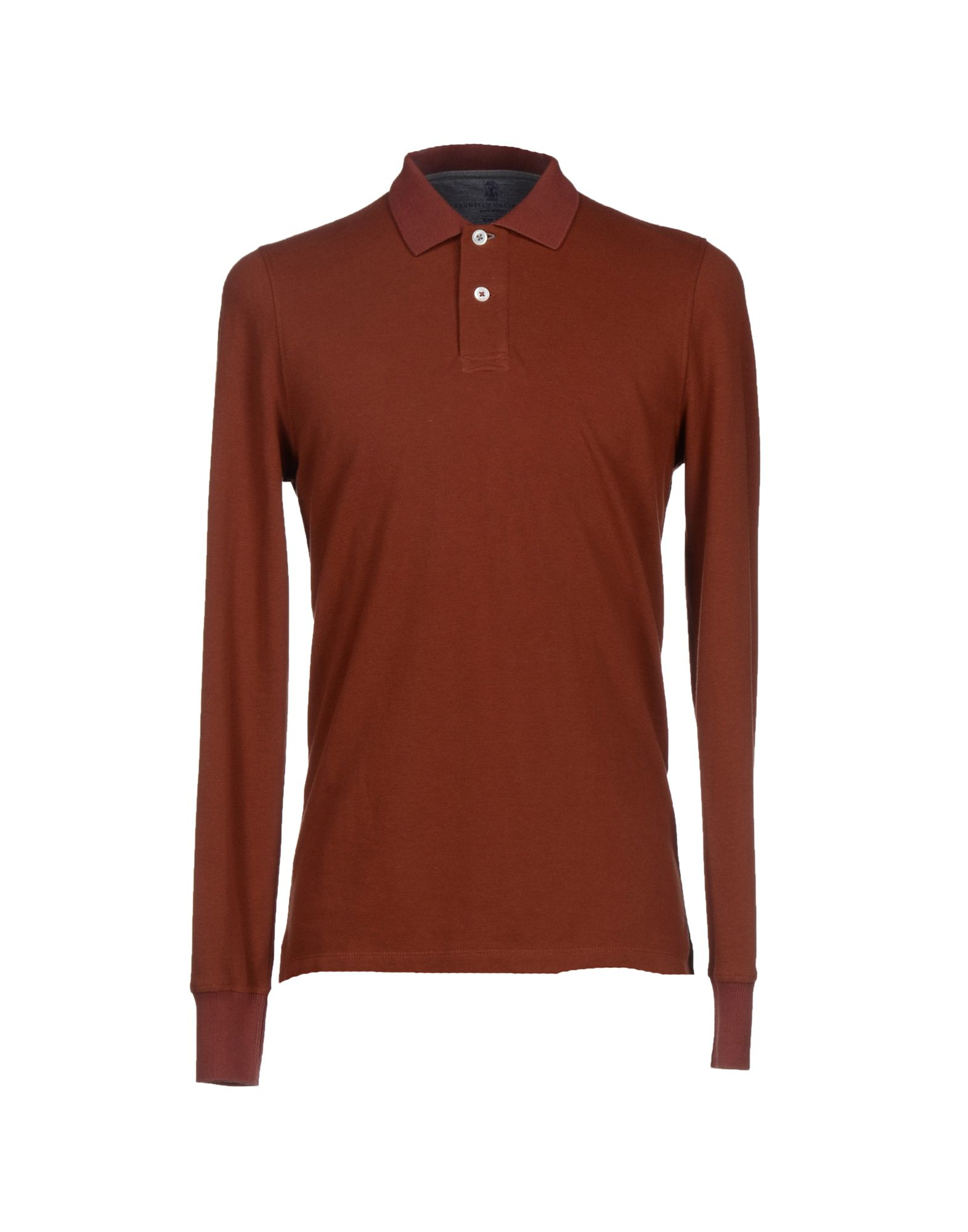Brunello Cucinelli Polo Shirt In Brown For Men Lyst