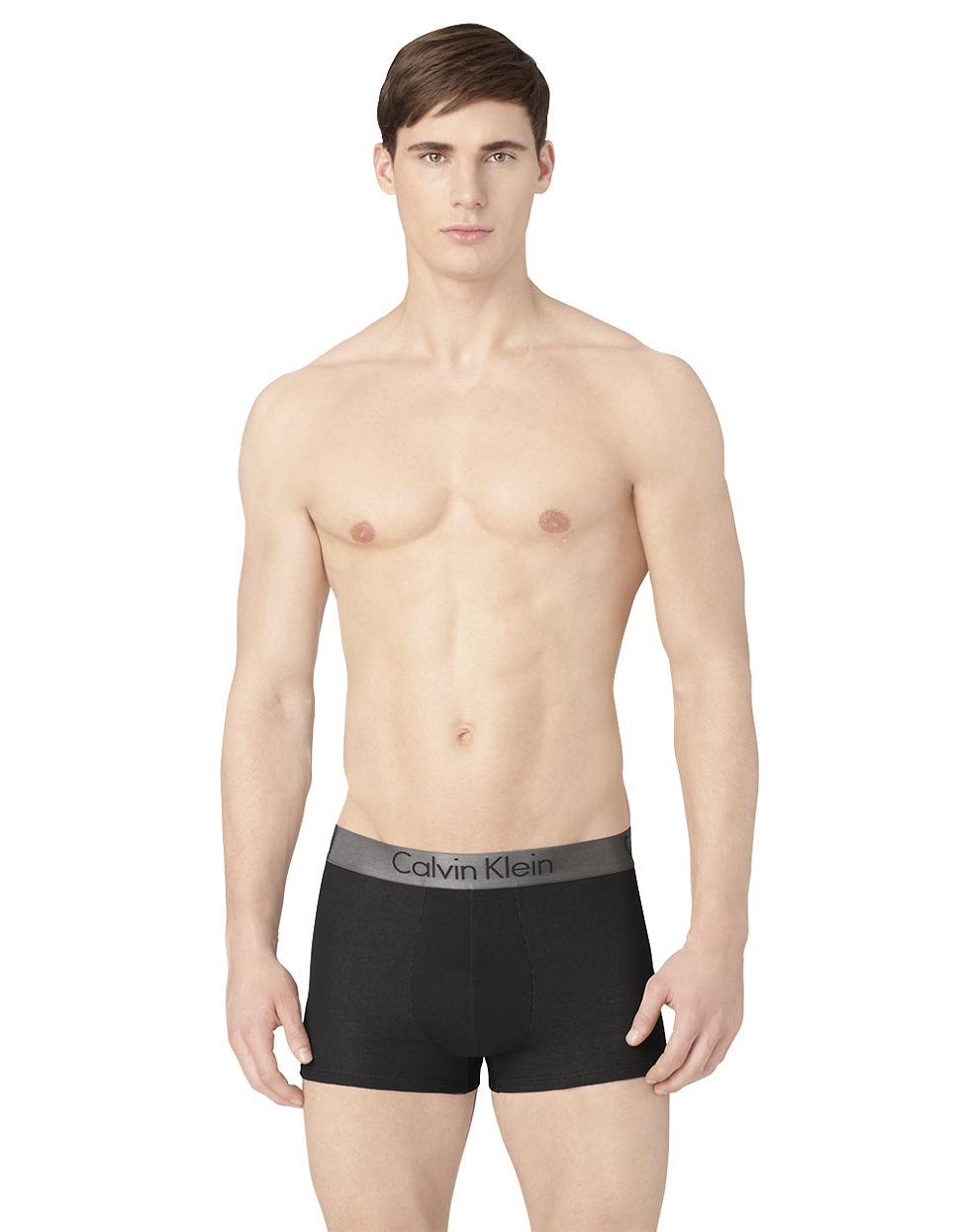 calvin klein logo boxer shorts in black for men lyst. Black Bedroom Furniture Sets. Home Design Ideas