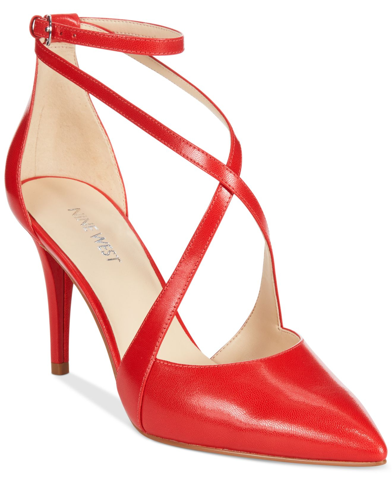 Lyst - Nine West Peacesign Pumps in Red 4d797c293