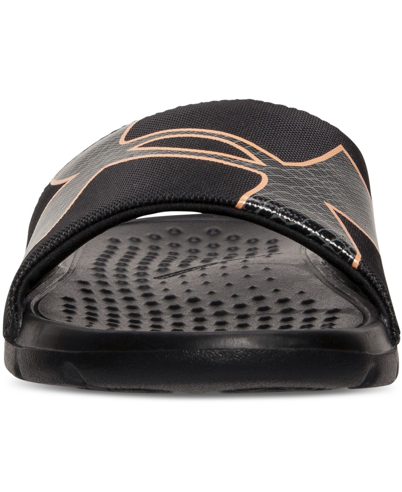 62c4ffbac5 Under Armour Black Women's Strike Rock Slide Sandals From Finish Line