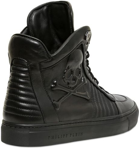 Leather High Tops Men Leather High Top Sneakers