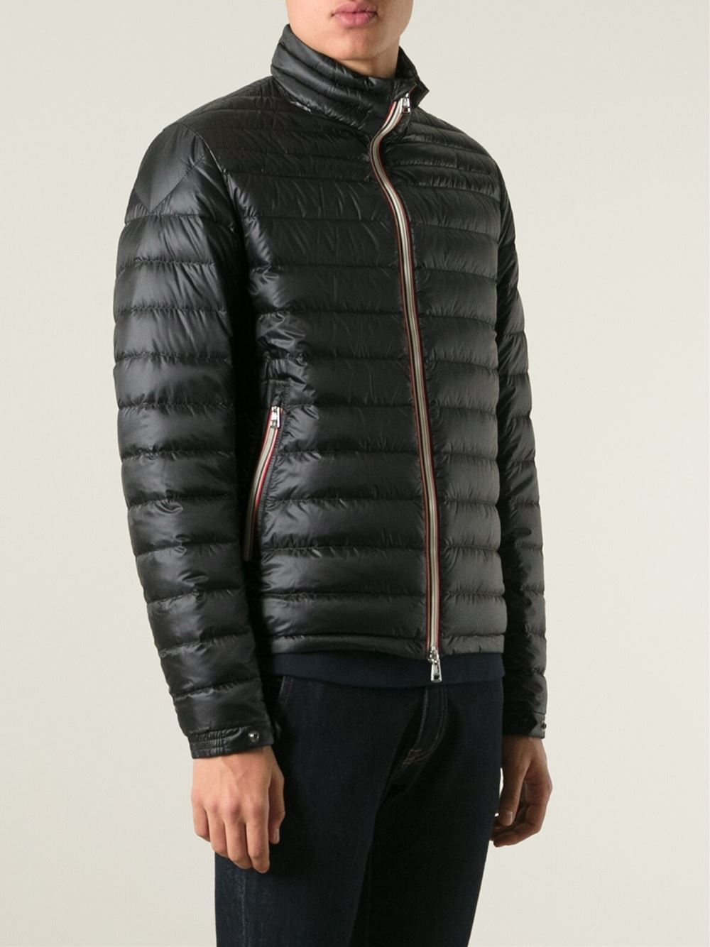 moncler daniel padded jacket in black for men lyst rh lyst co uk