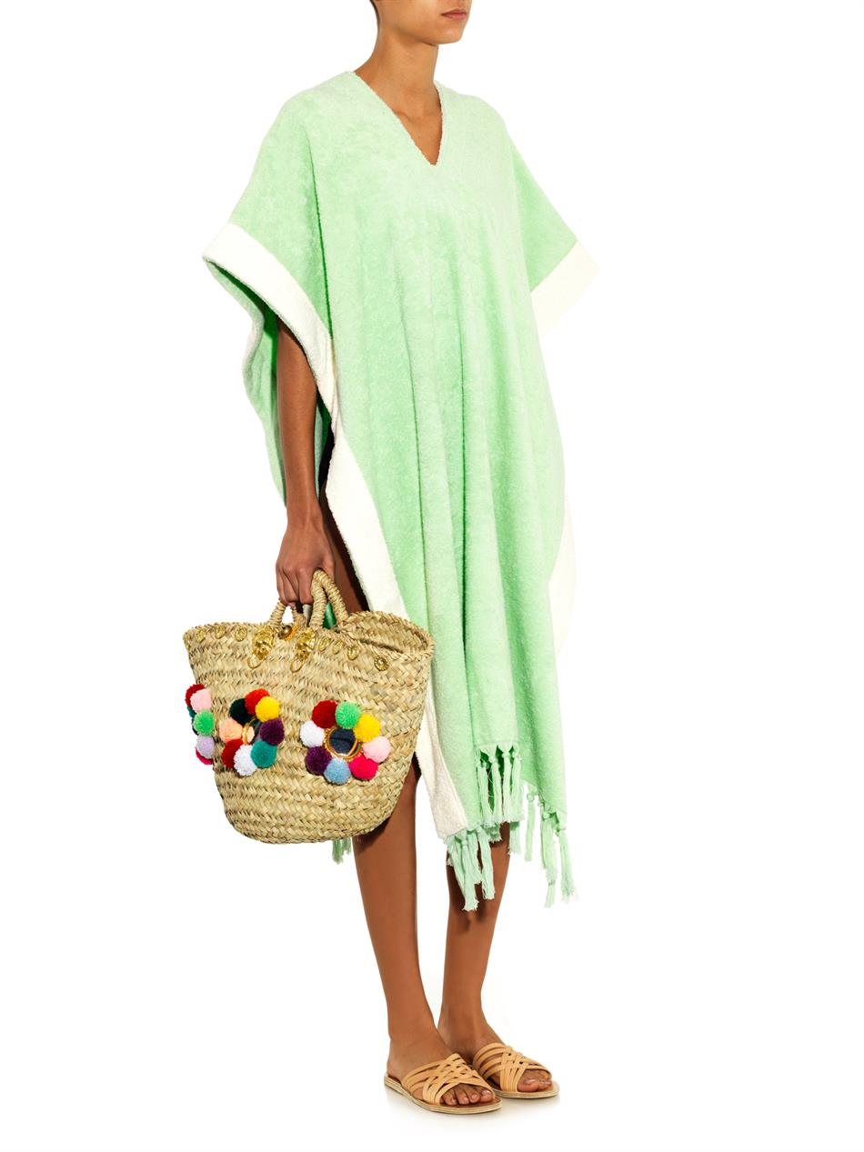 34df9067bd Lisa Marie Fernandez Terry Towelling Beach Cover Up In Green Lyst
