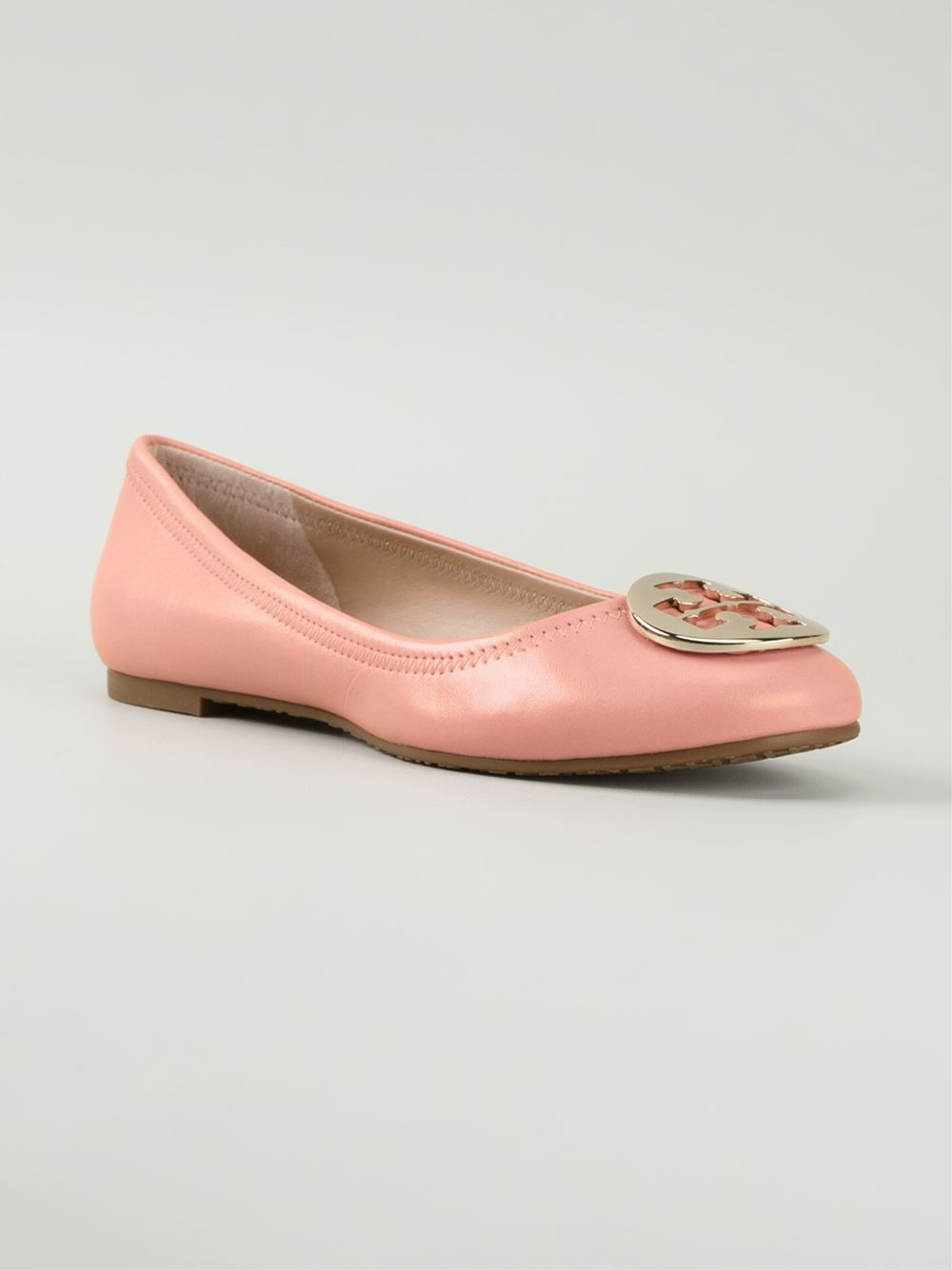 tory burch 39 reva ballet 39 ballerinas in pink pink purple lyst. Black Bedroom Furniture Sets. Home Design Ideas