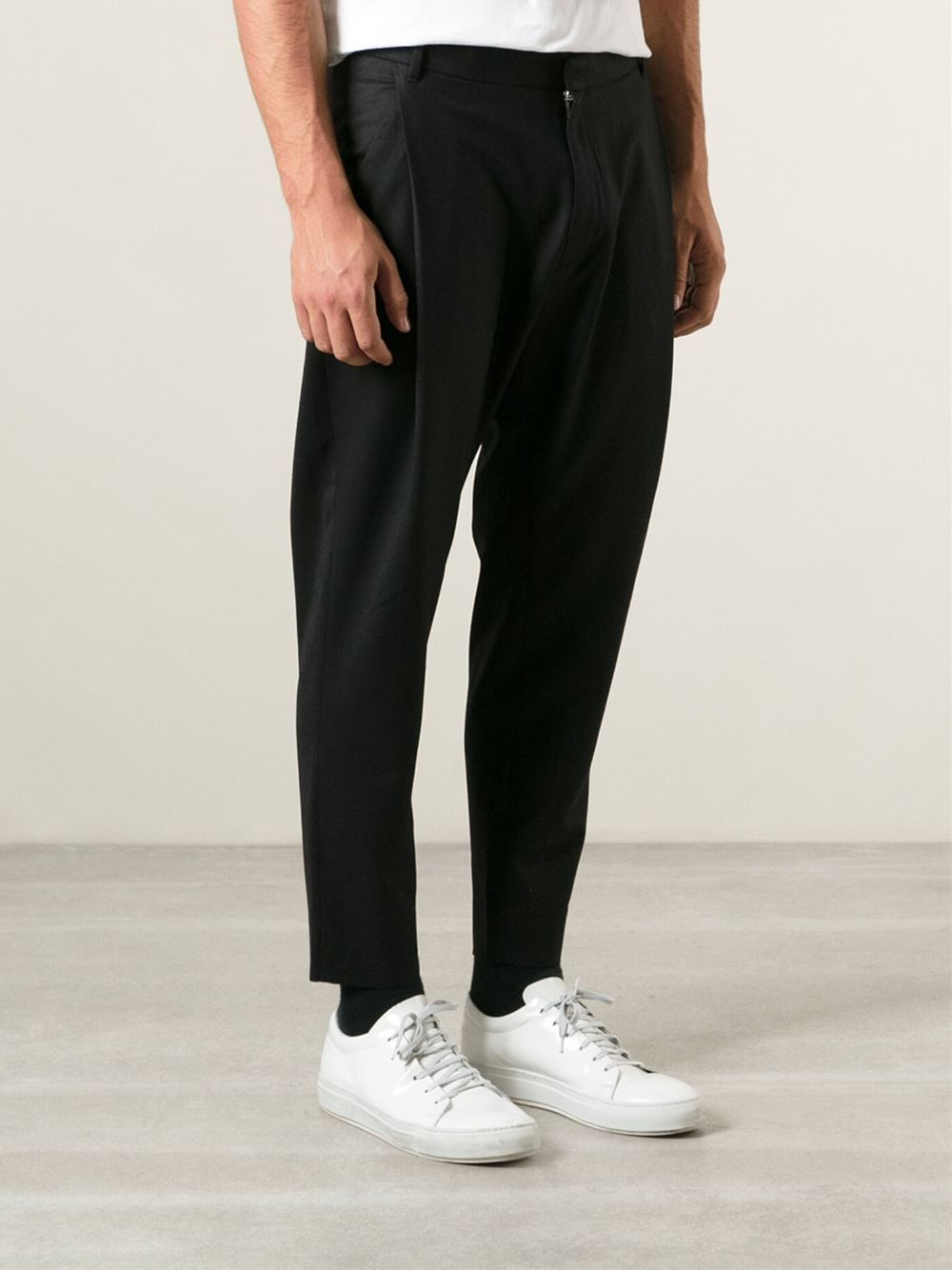 Whyred 'Orwell' Flannel Trousers in Black for Men