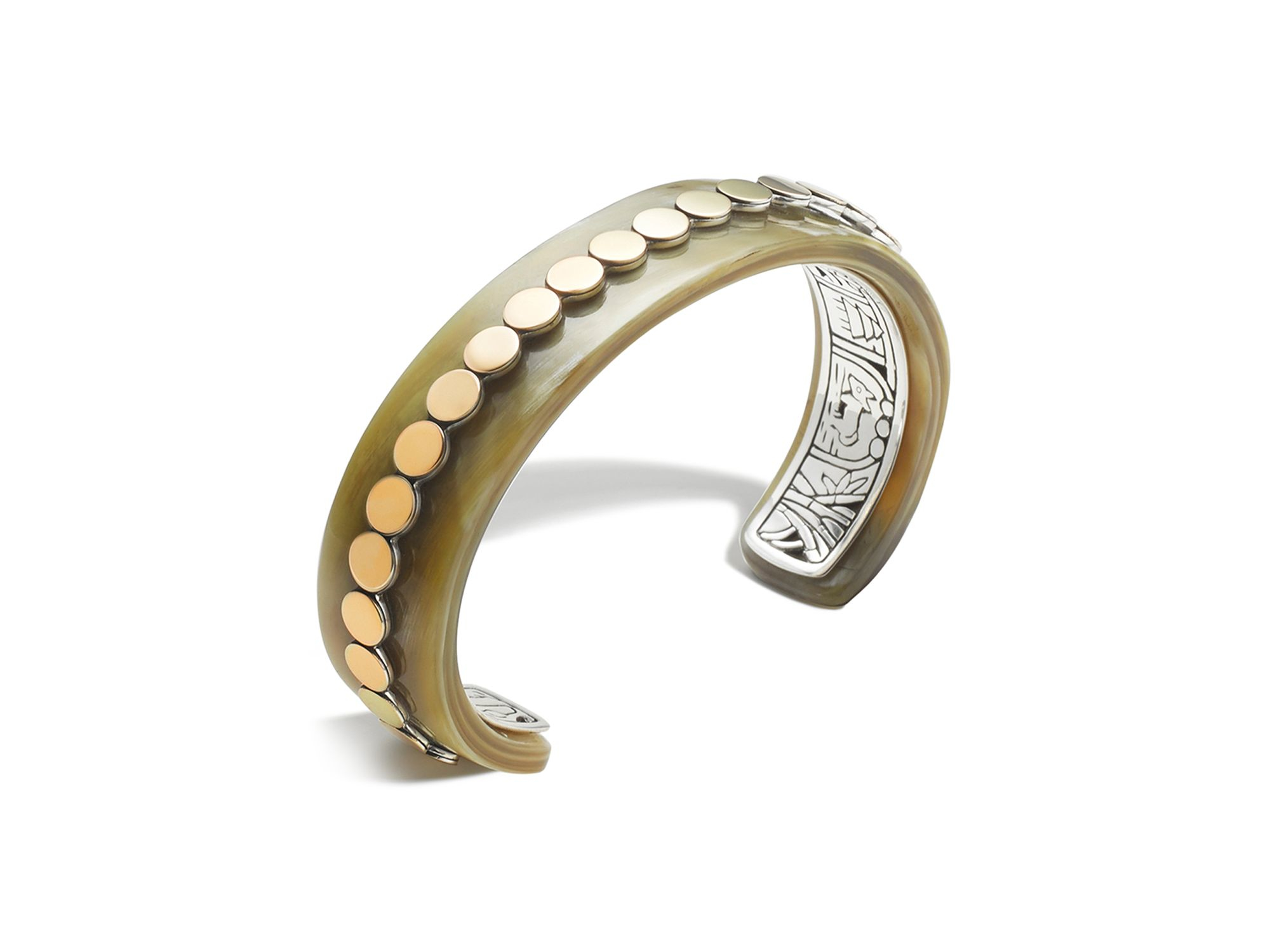 Lyst John Hardy Sterling Silver And 18k Bonded Gold Dot