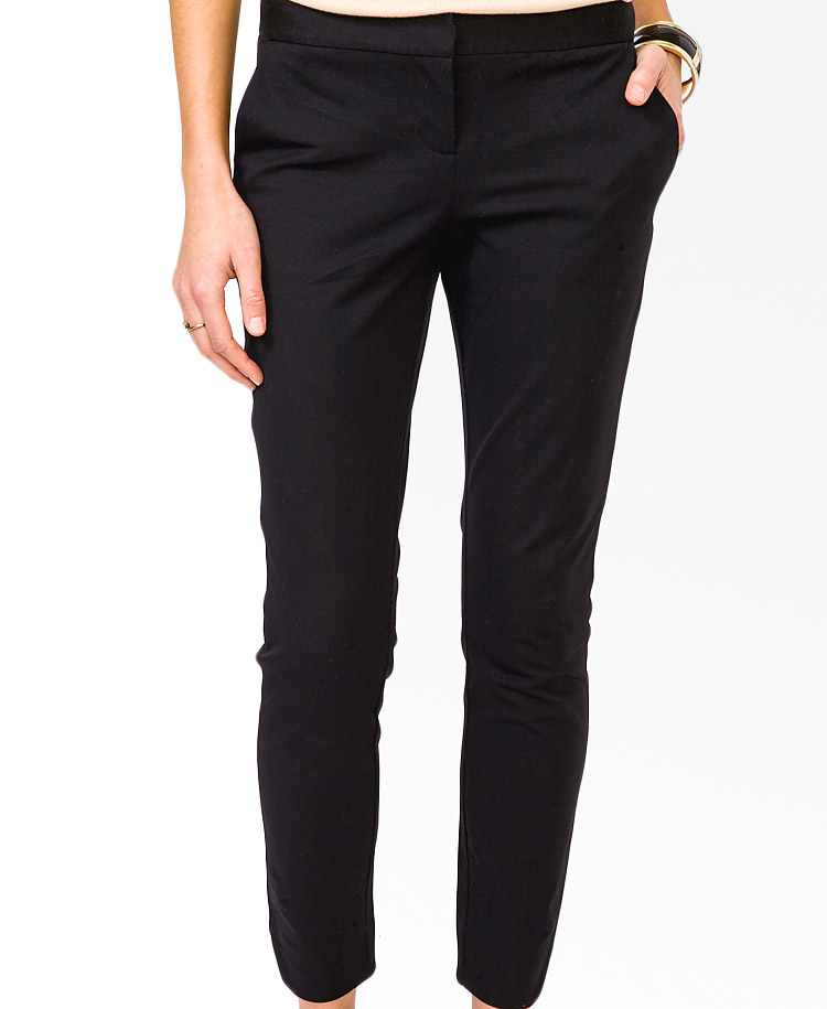 Forever 21 Essential Tulip Ankle Pants in Black | Lyst