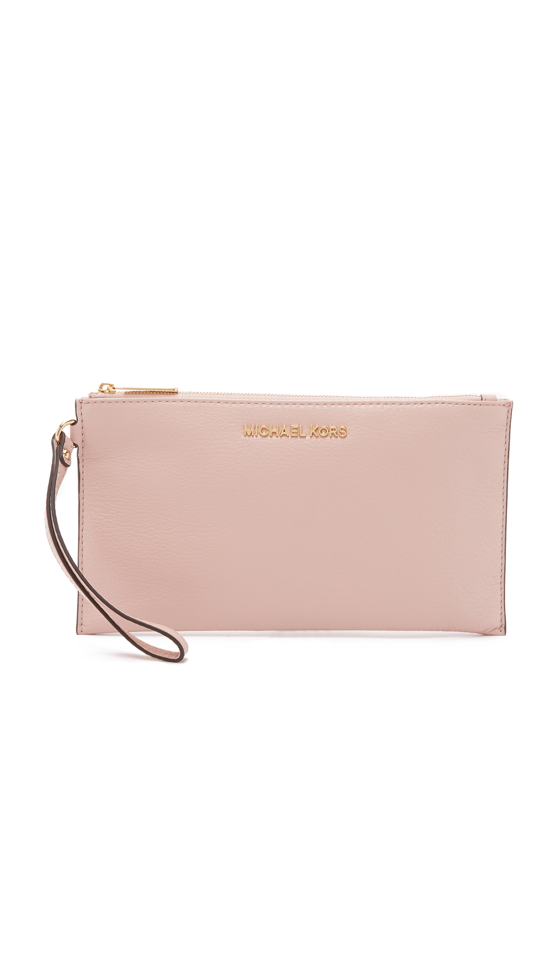 8030e15aa13a MICHAEL Michael Kors Bedford Large Zip Clutch in Pink - Lyst