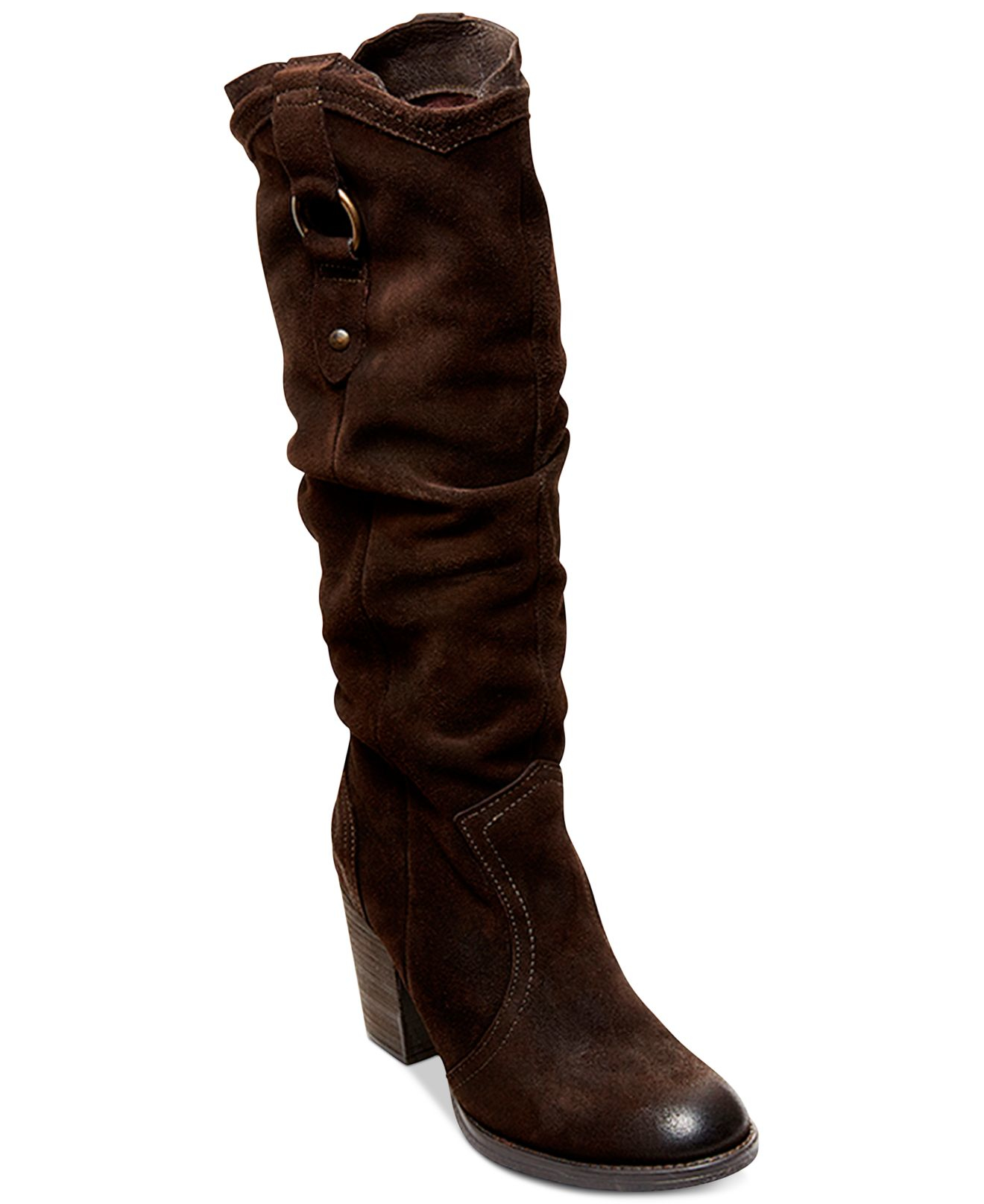 steve madden s gammbler slouch boots in brown