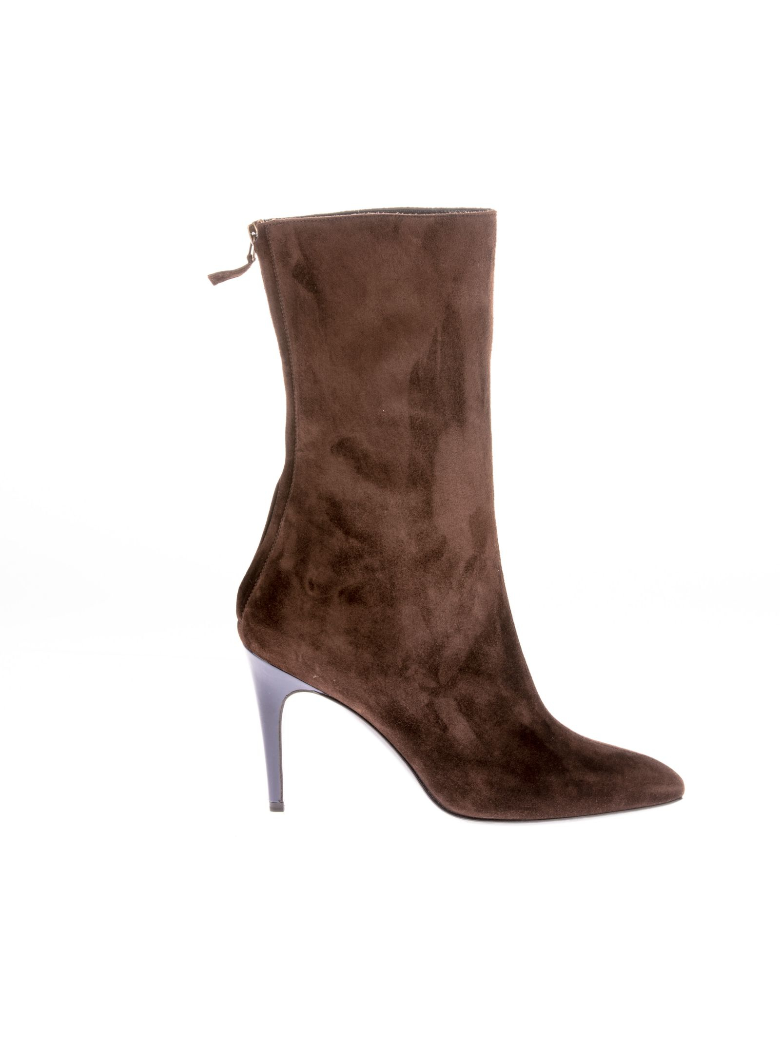 michel vivien brown suede ankle boots in multicolor