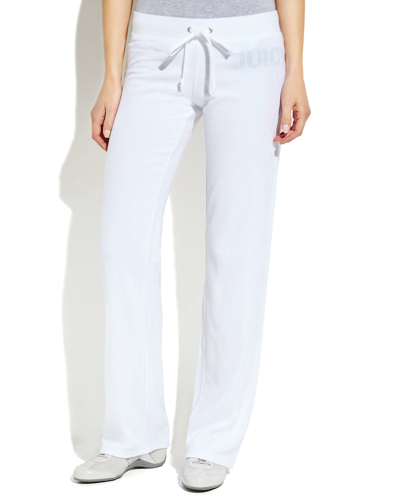Lyst - Juicy Couture Repeat Terry Cloth Pants in White 2d1ae6a0a513